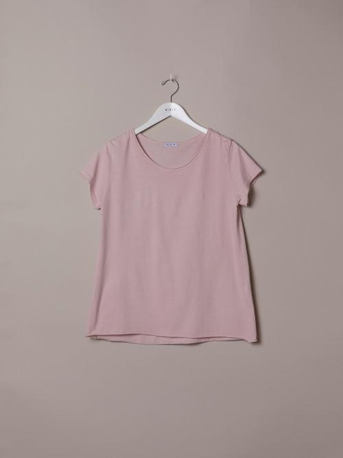 Camiseta mujer lisa algodón Rosa