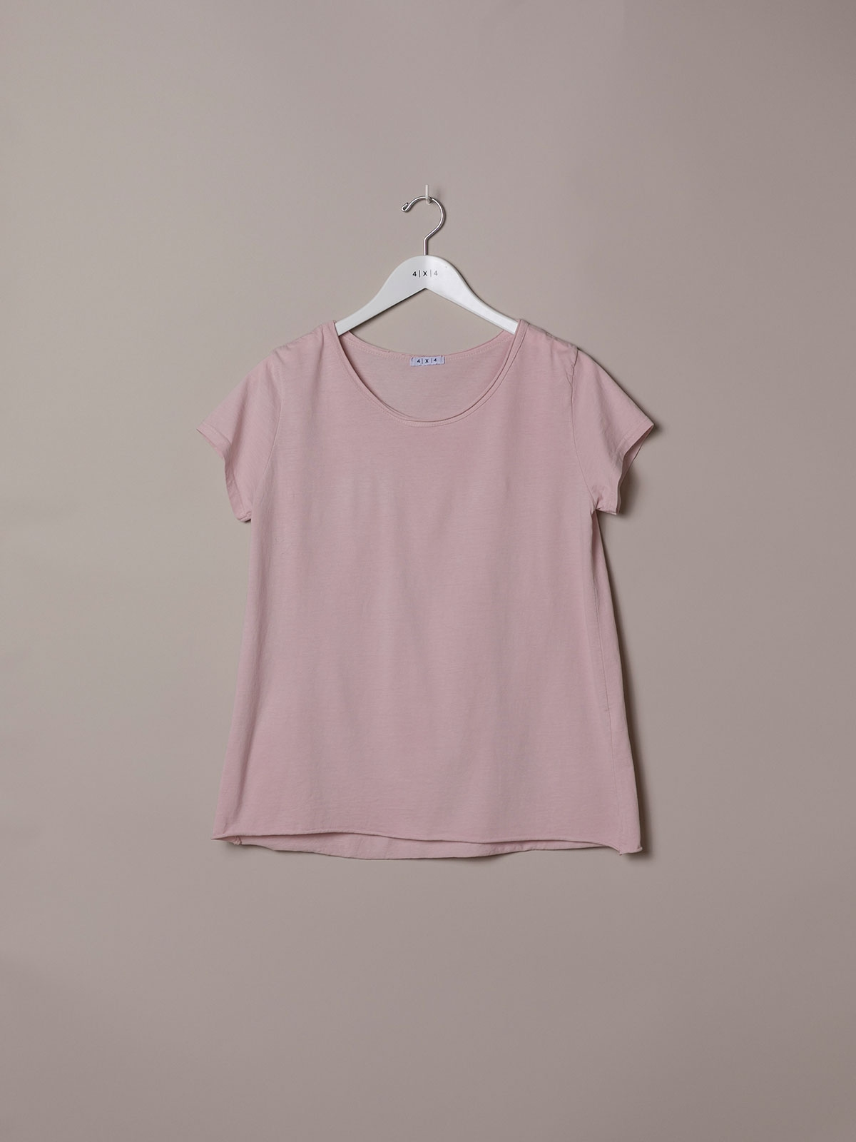 Woman Plain cotton T-shirt Pink
