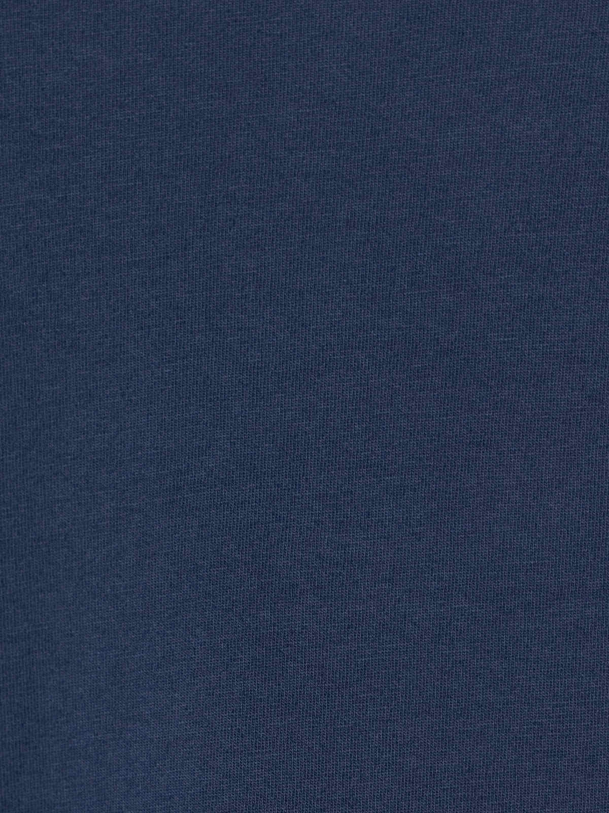 Camiseta mujer algodón lisa cuello pico Azul Marino
