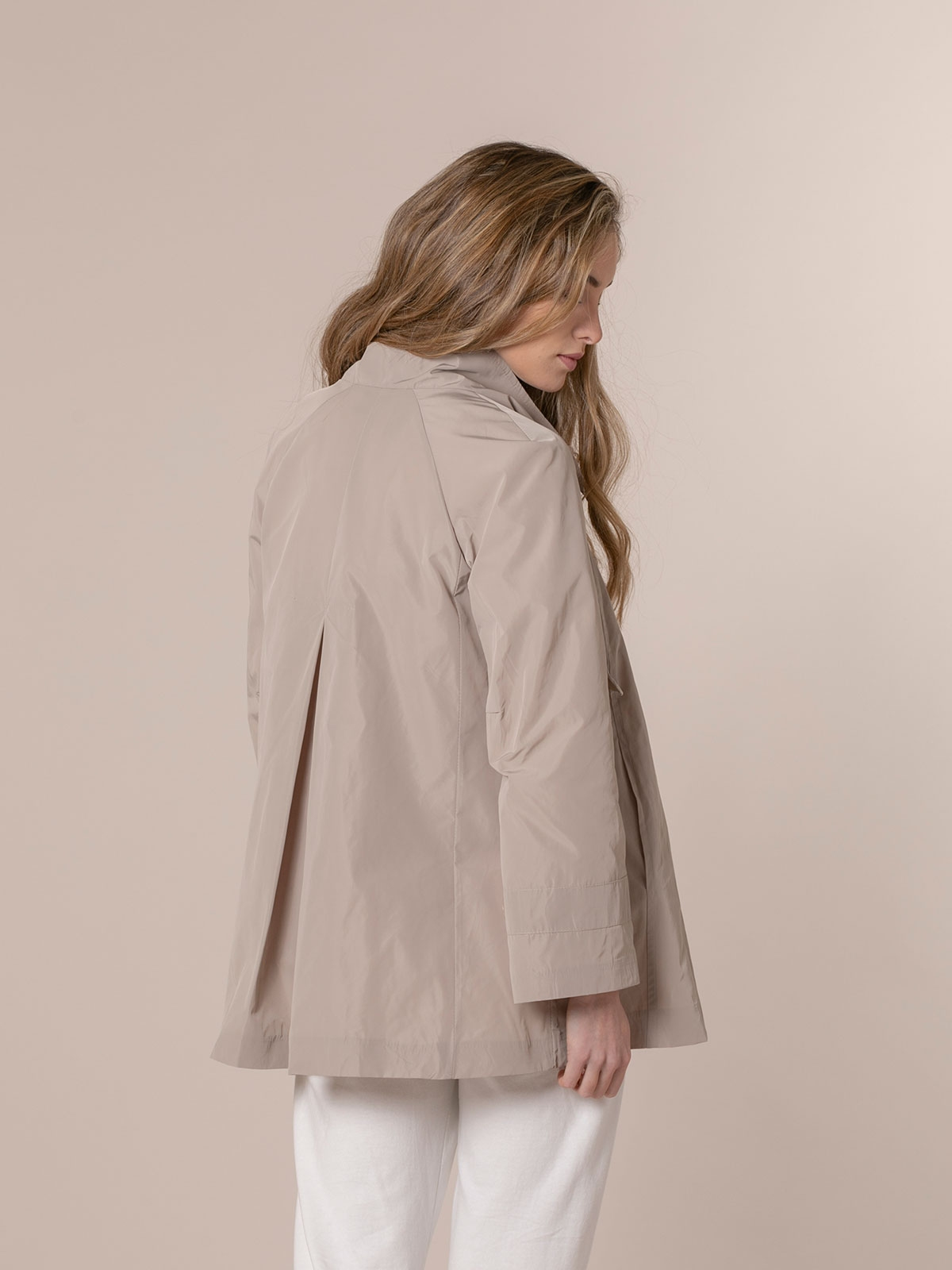Parka mujer impermeable especial Beige