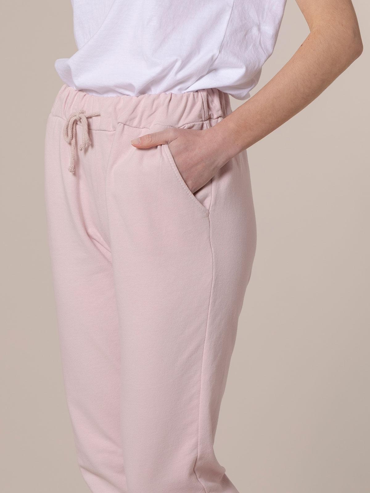 Pantalón mujer sport felpa Rosa