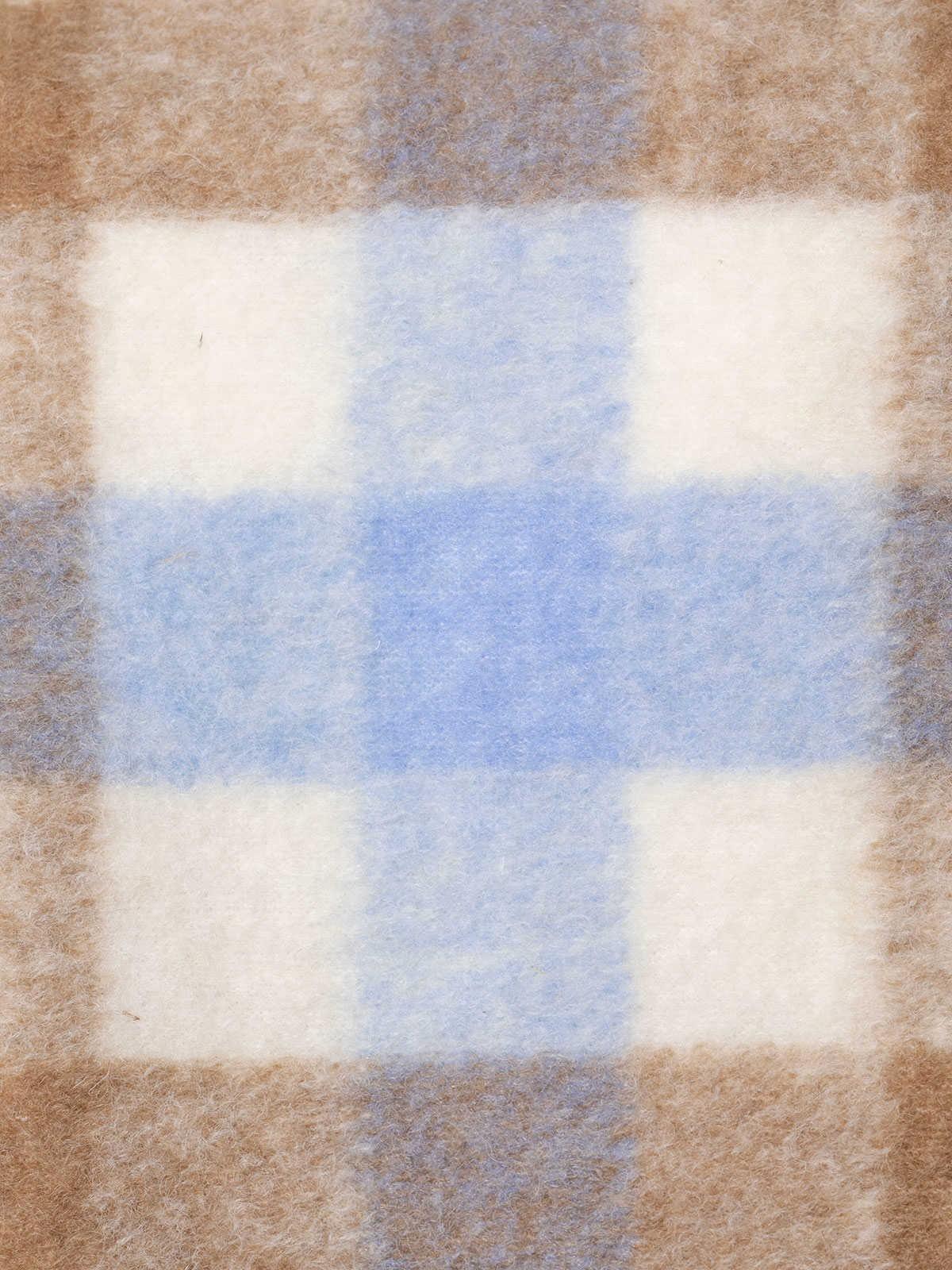 Chaleco mujer suave cuadro trendy Azul