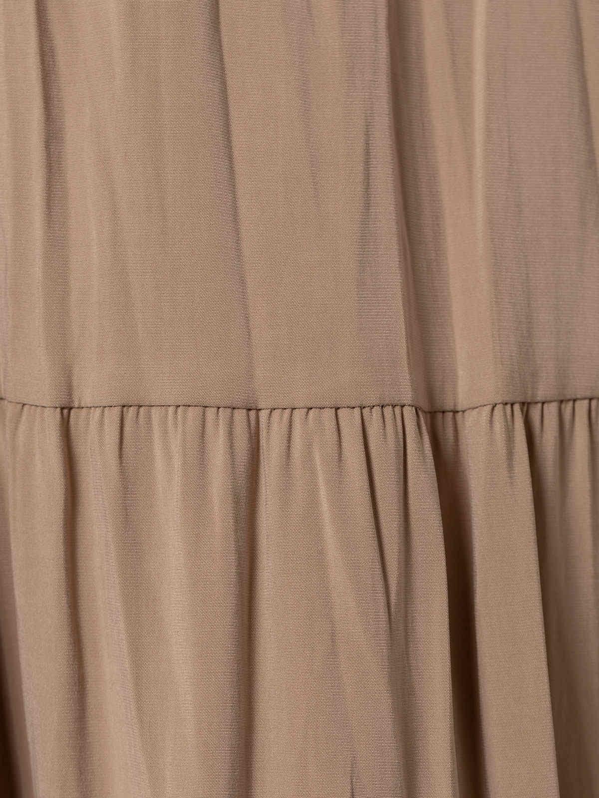 Woman Midi cuts skirt Camel