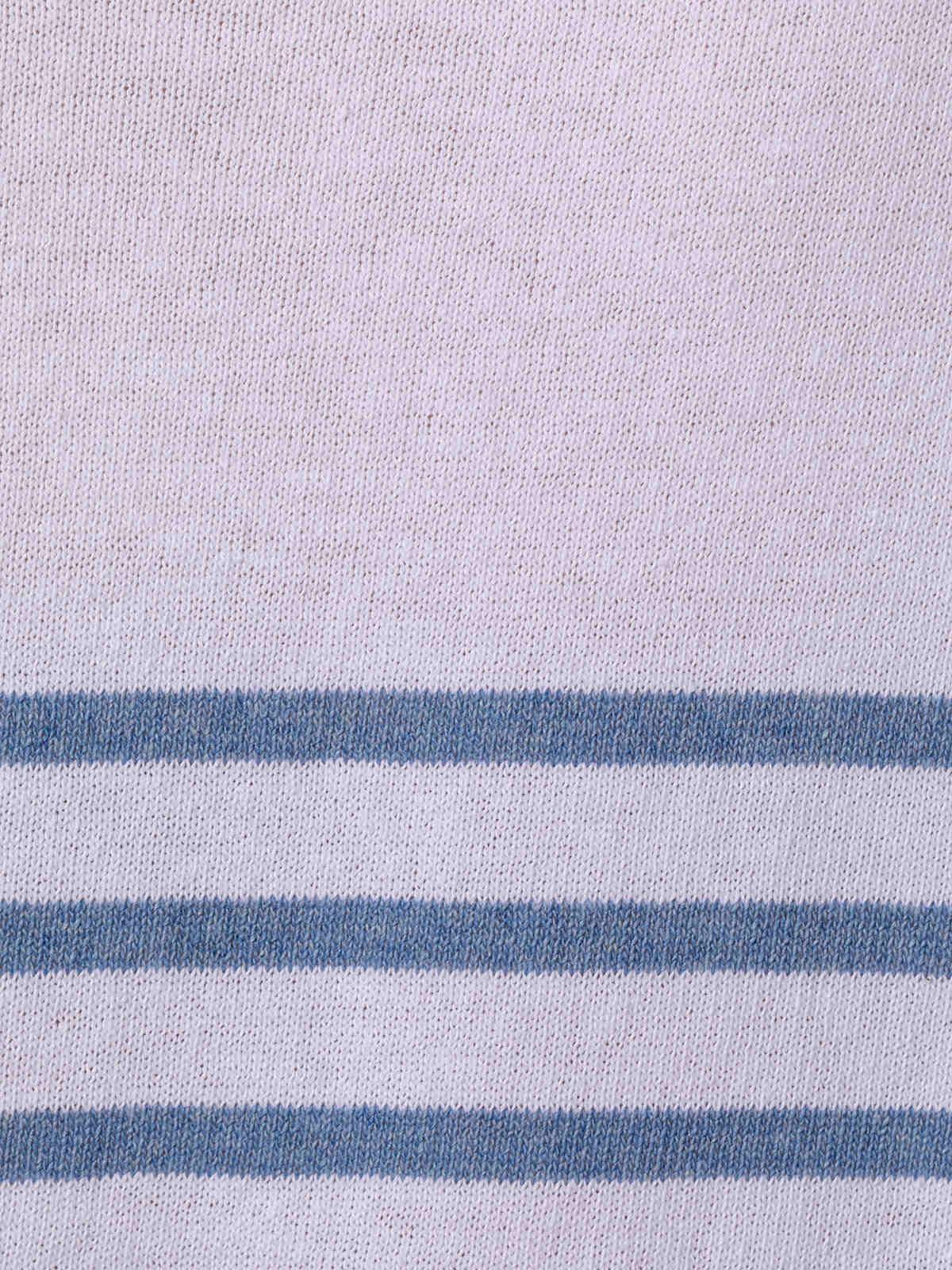 Jersey mujer punto fino rayas en bajo Azul