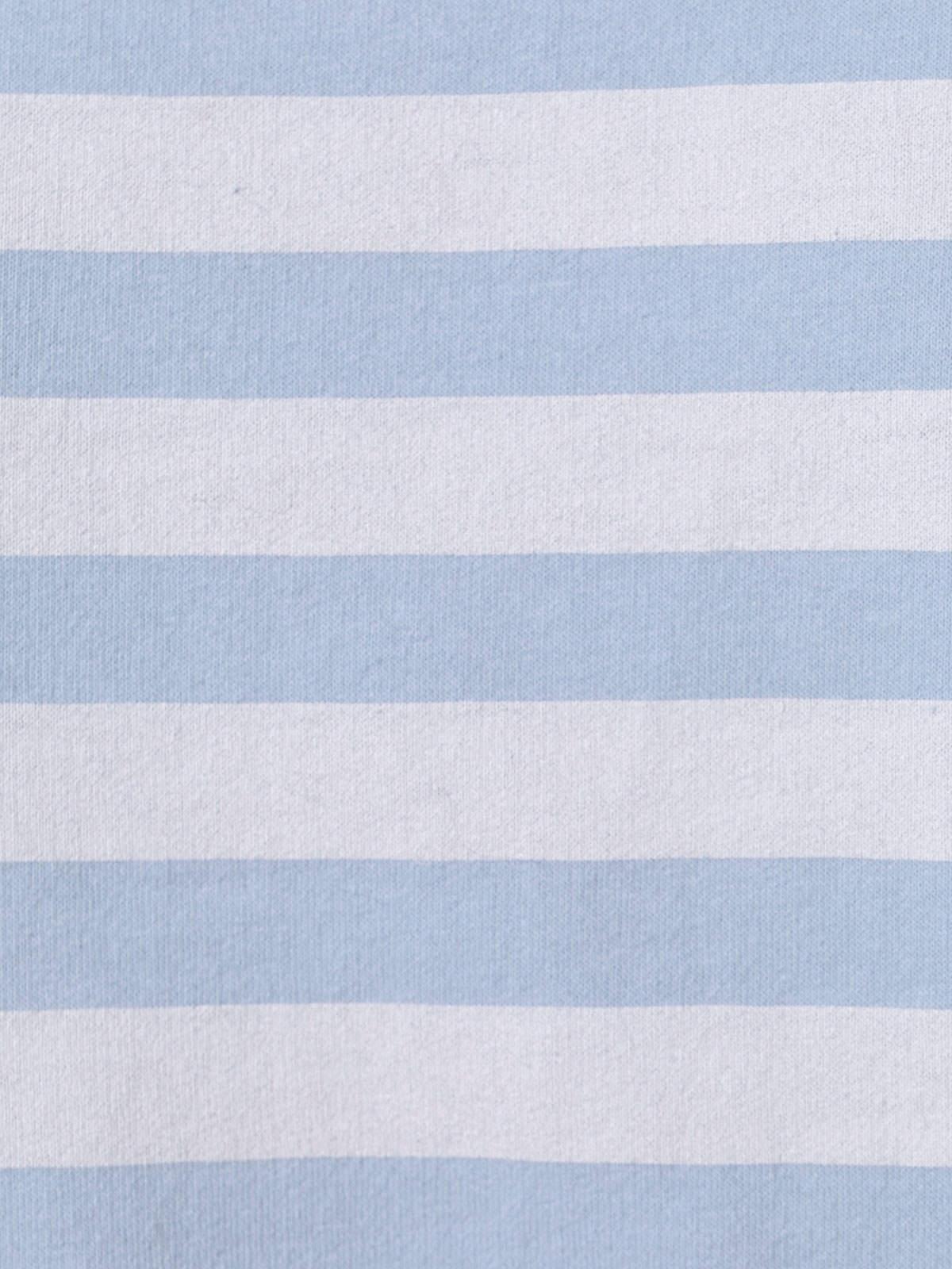 Sudadera mujer rayas cuello barco Azul