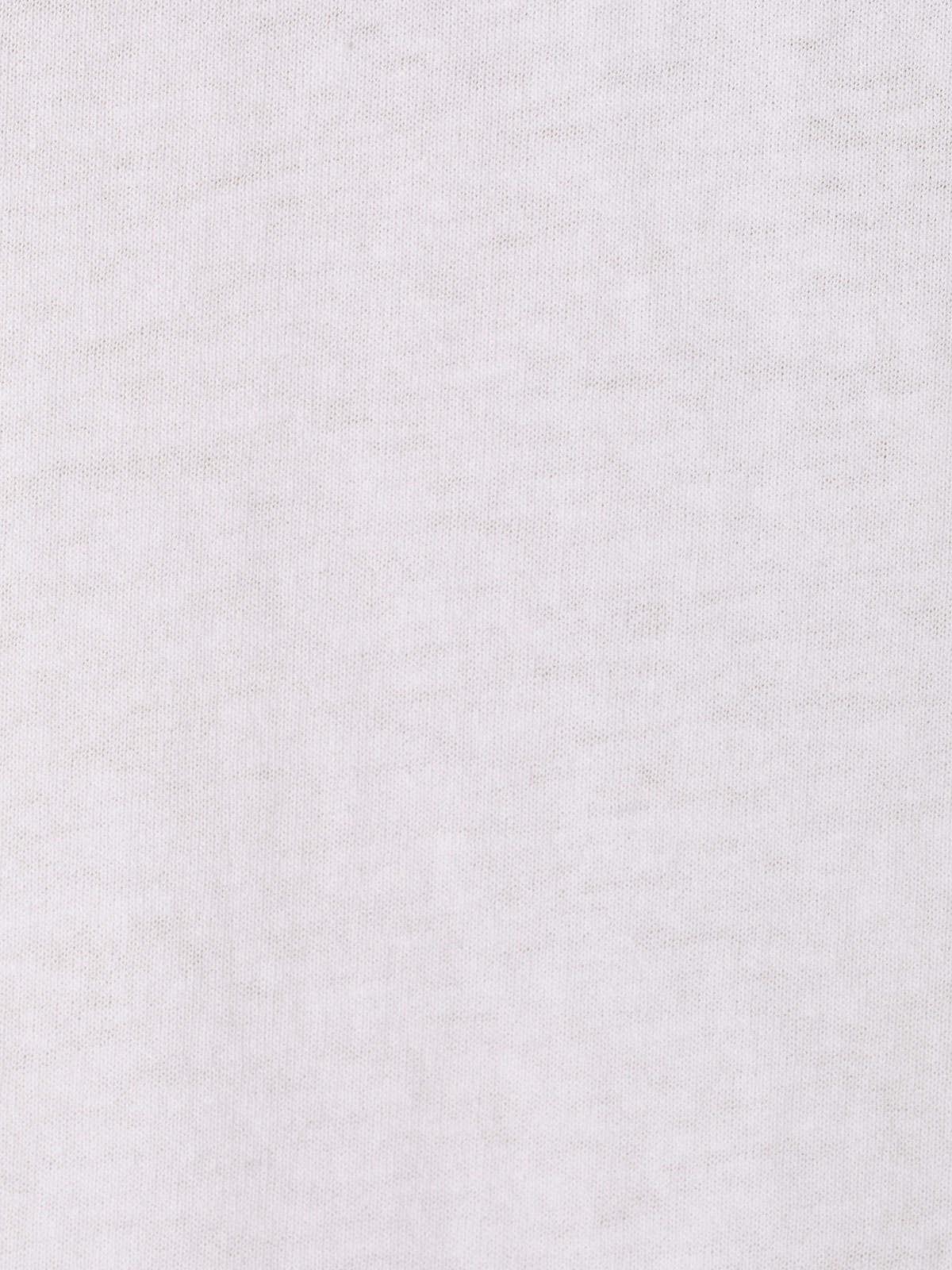 Woman Crochet detail cotton T-shirt White