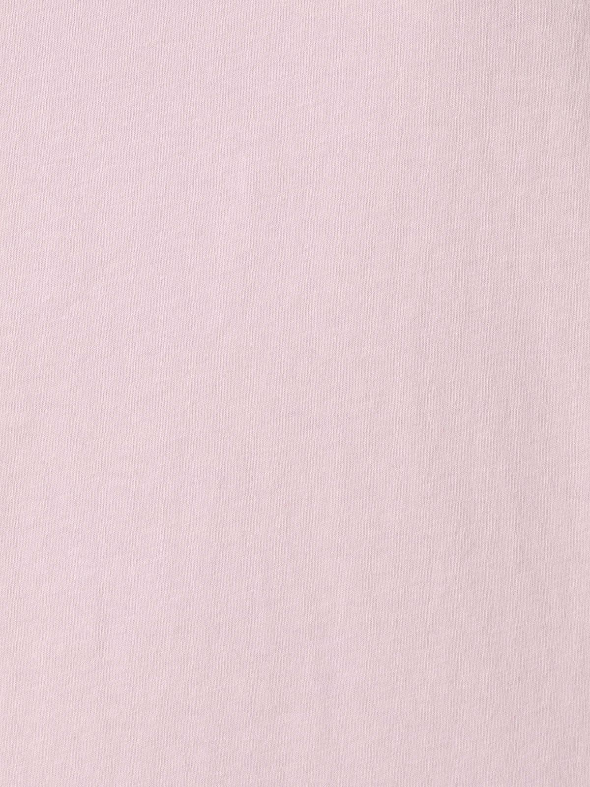 Woman Crochet detail cotton T-shirt Pink