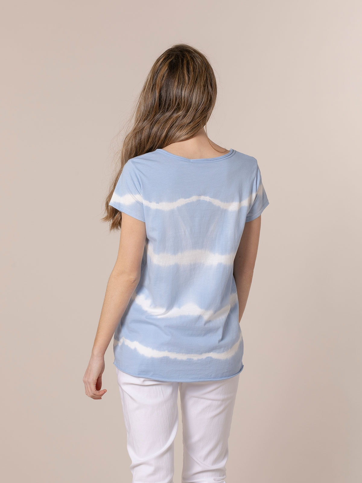 Woman Short sleeve tie & dye T-shirt Blue