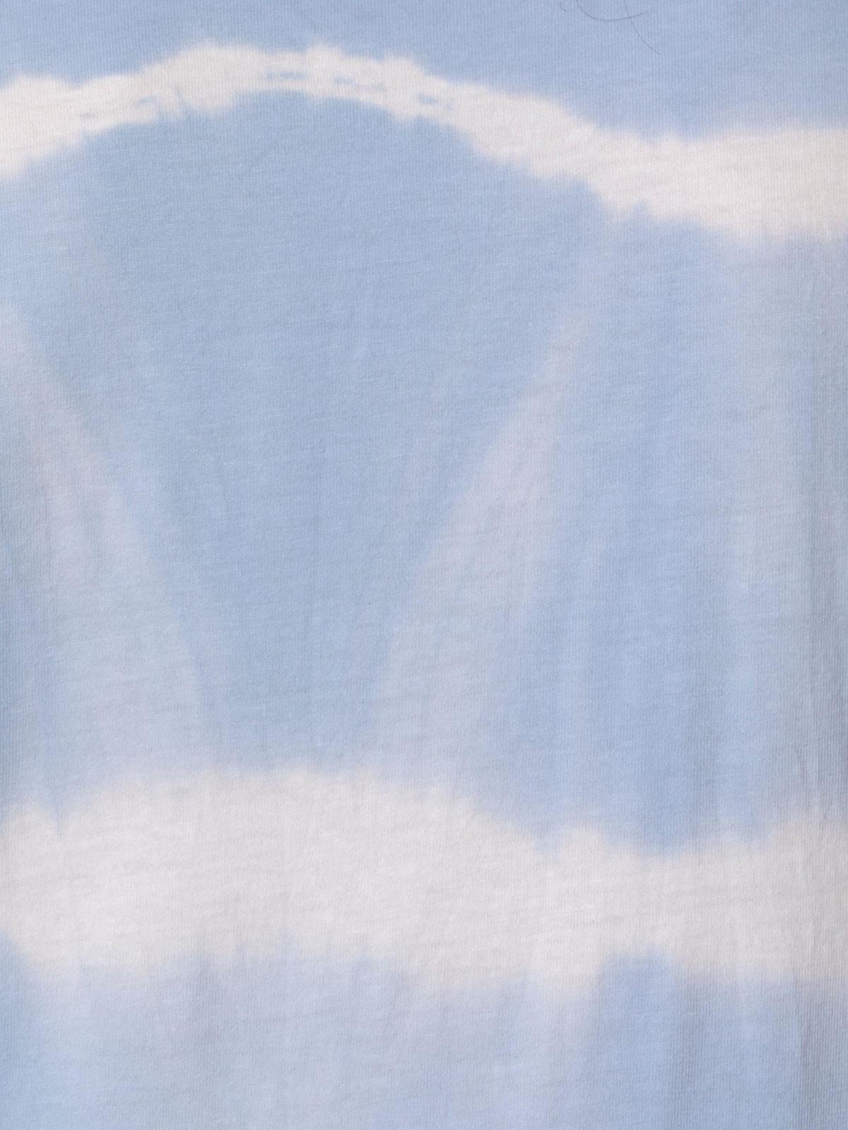 Camiseta mujer tie & dye manga corta Azul