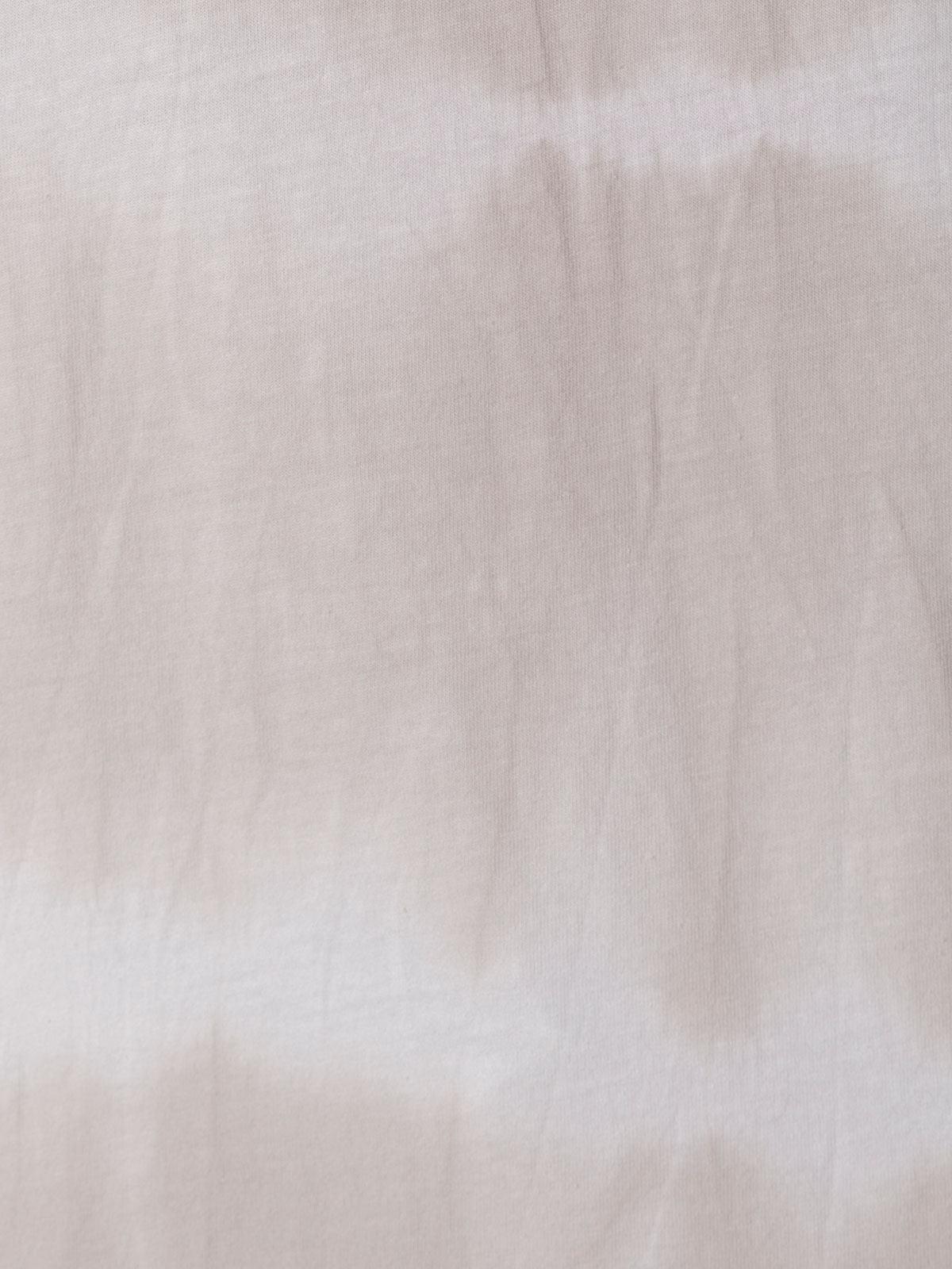 Woman Short sleeve tie & dye T-shirt Beige