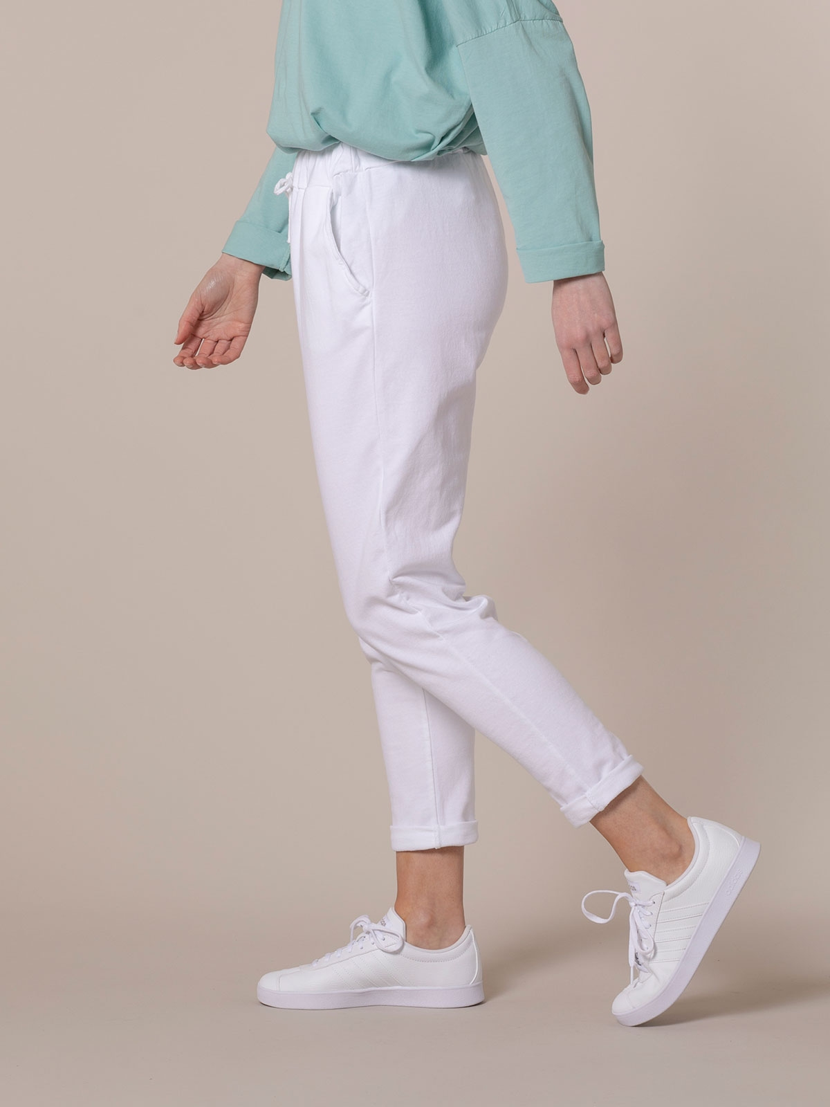 Pantalón mujer sport felpa Blanco