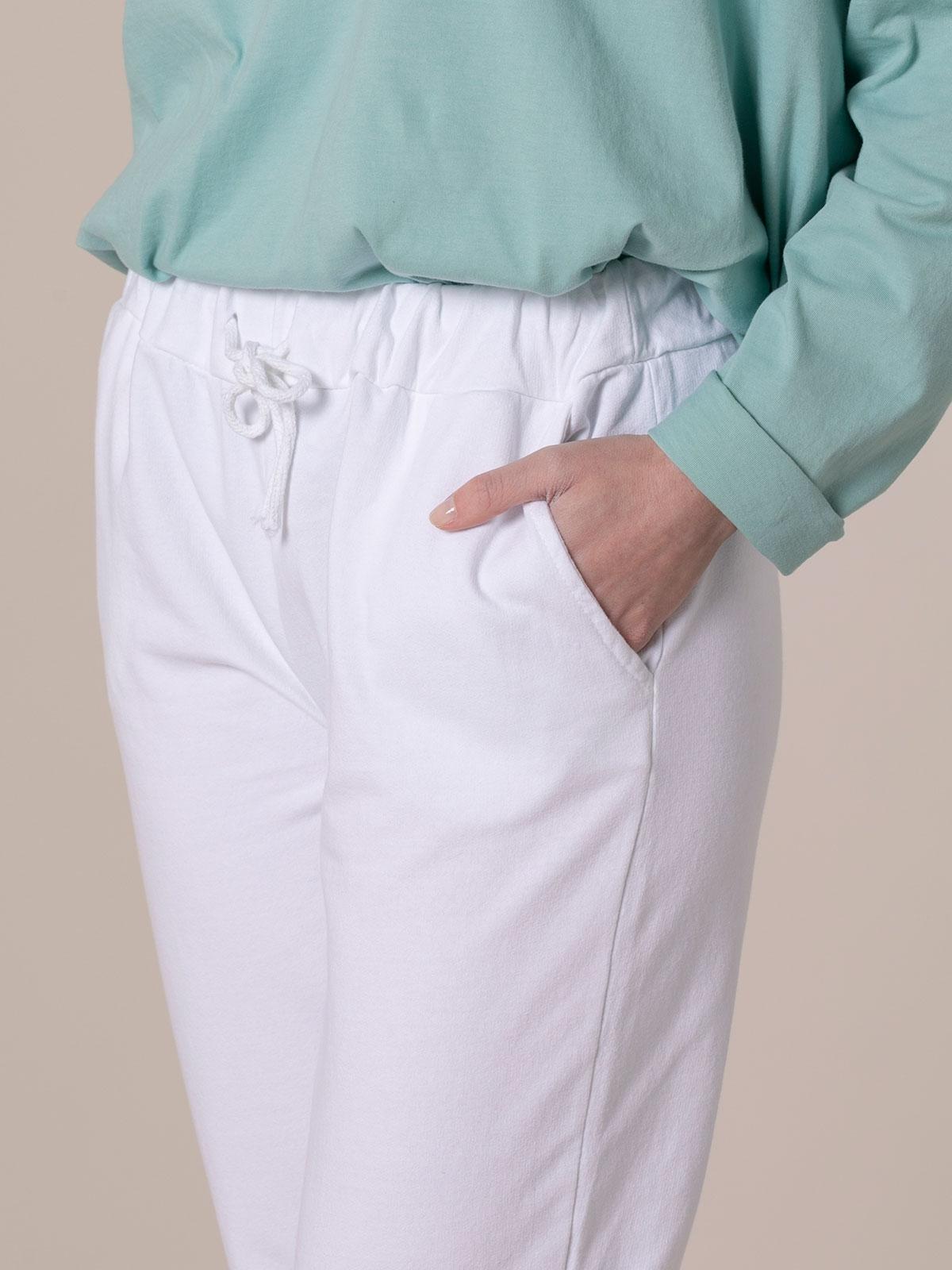 Woman Plush sport trousers White