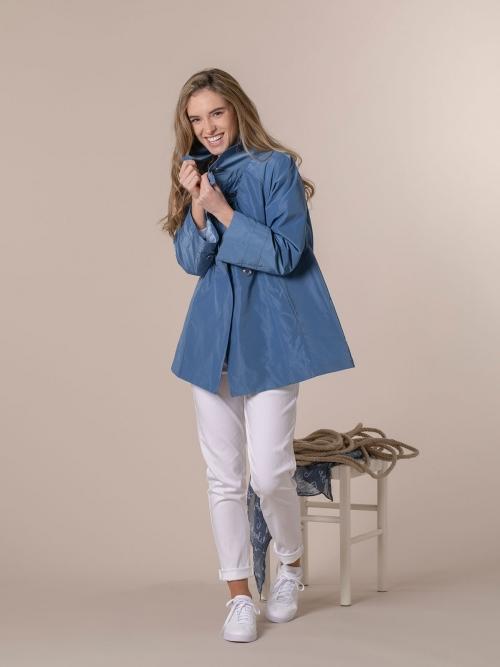 Woman Special waterproof parka Blue