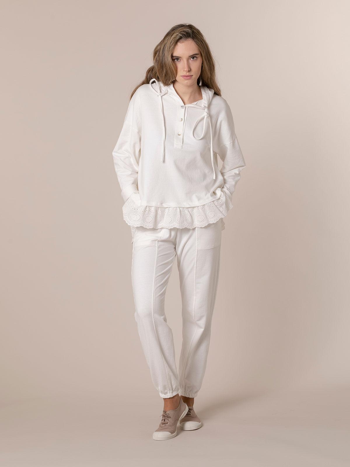 Woman Sport pants athleisure line White