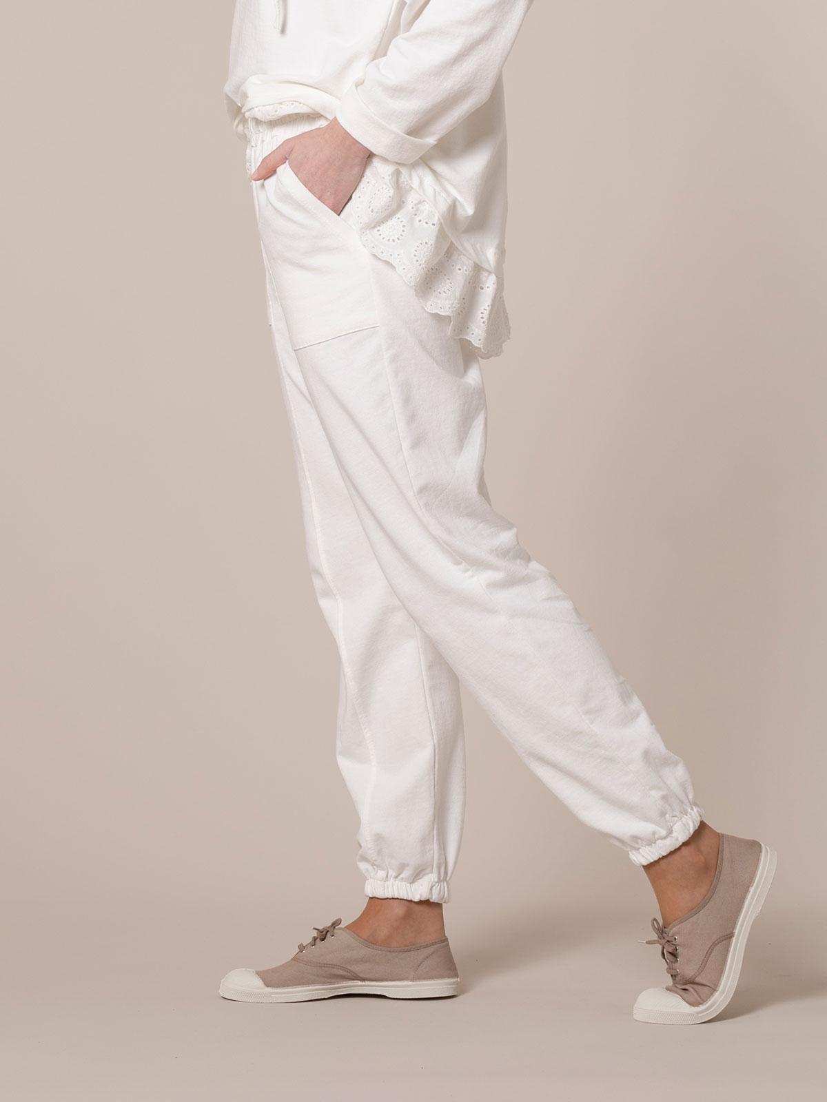 Pantalón mujer sport linea athleisure Blanco