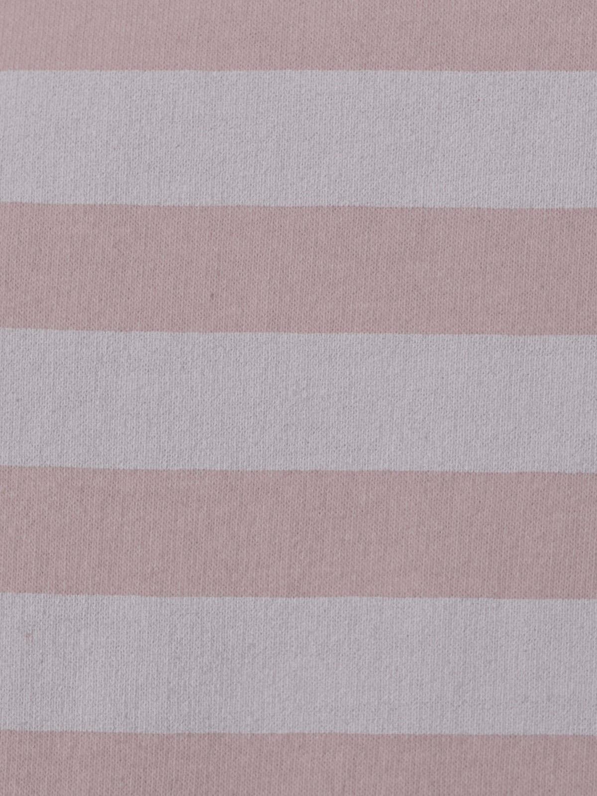 Woman Striped sweatshirt with hem detail Pink