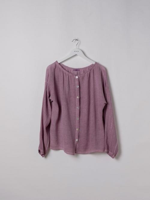 Woman Ruffled ruffle blouse Mallow