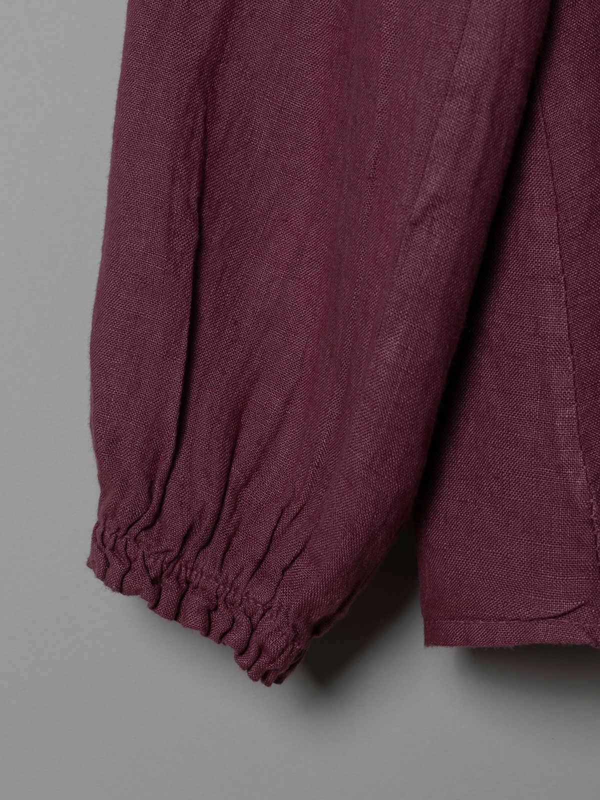 Woman Buttoned linen shirt Mallow