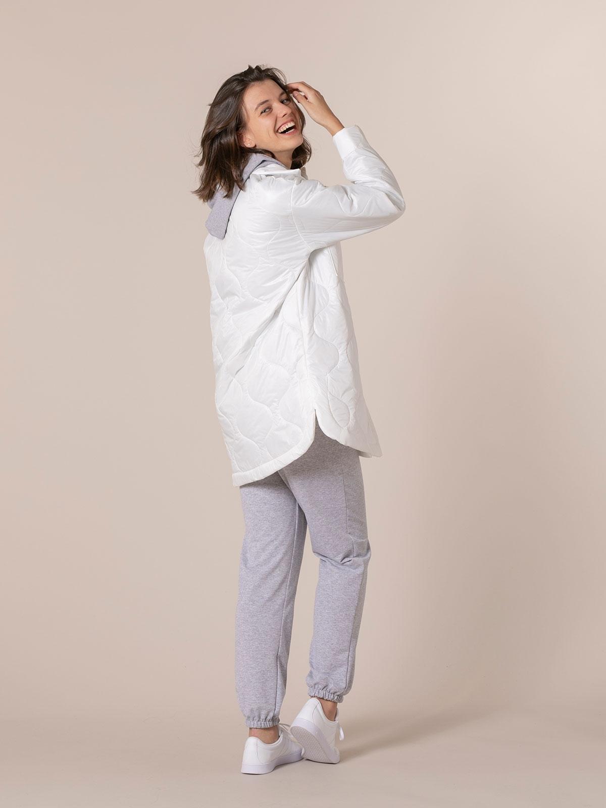 Parka mujer acolchada trendy Blanco
