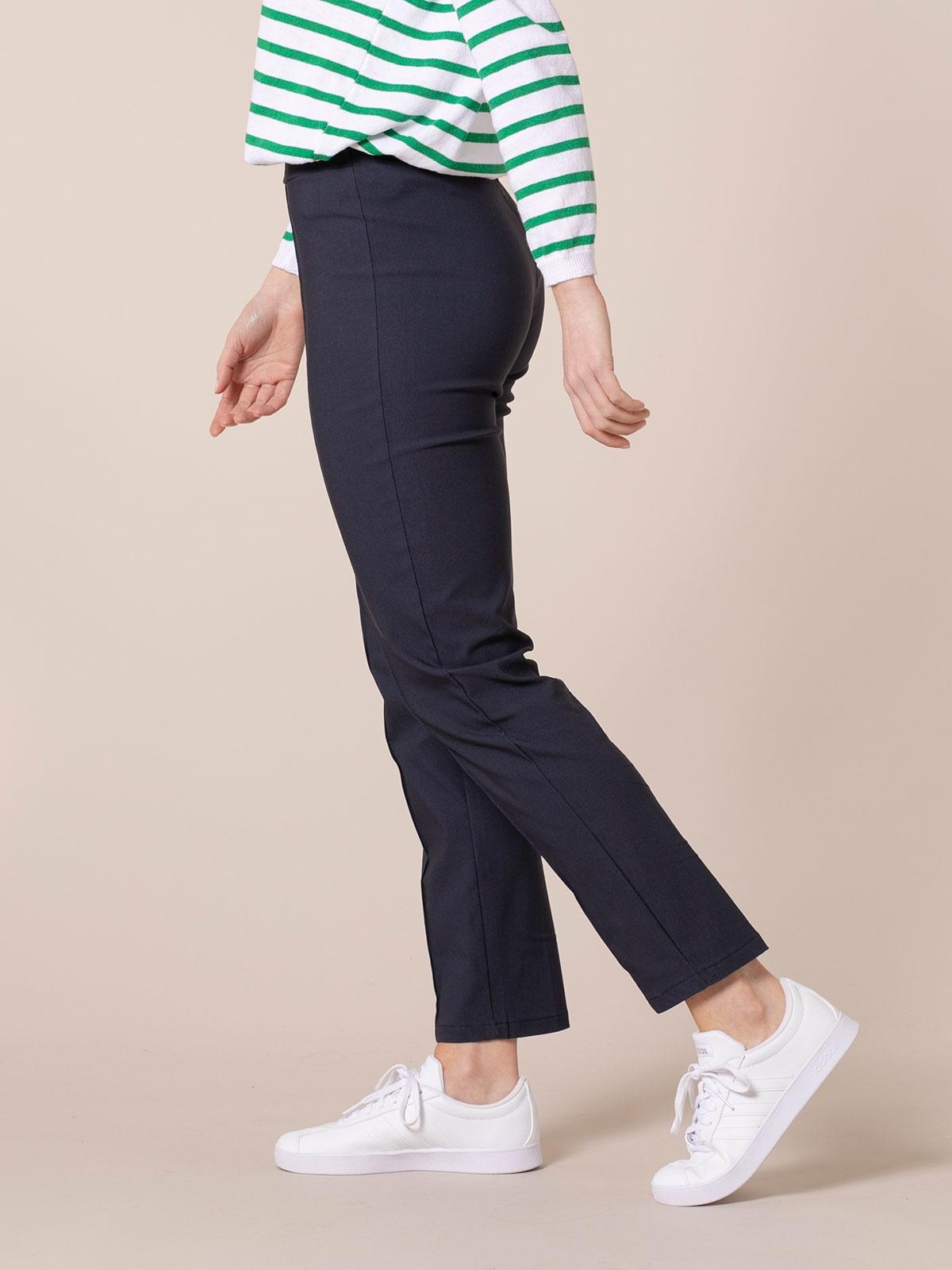 Pantalón mujer confort elástico Azul Marino