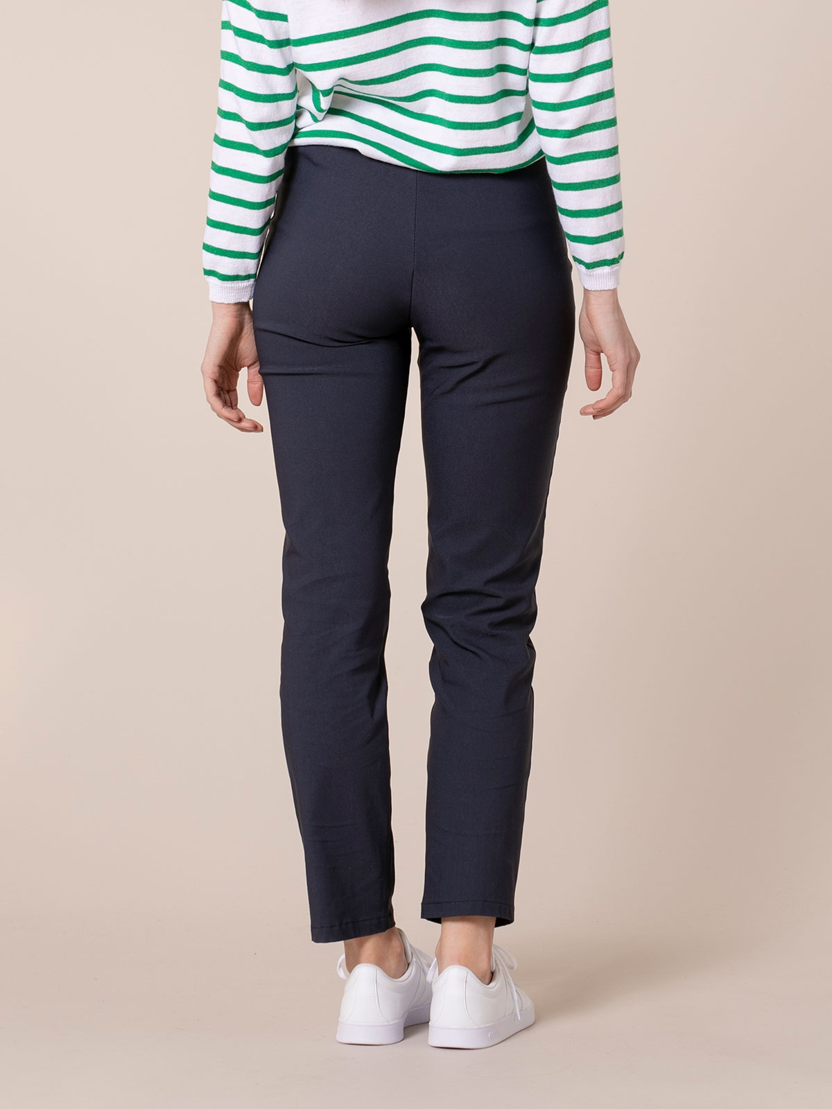 Woman Stretch comfort trousers Blue Navy