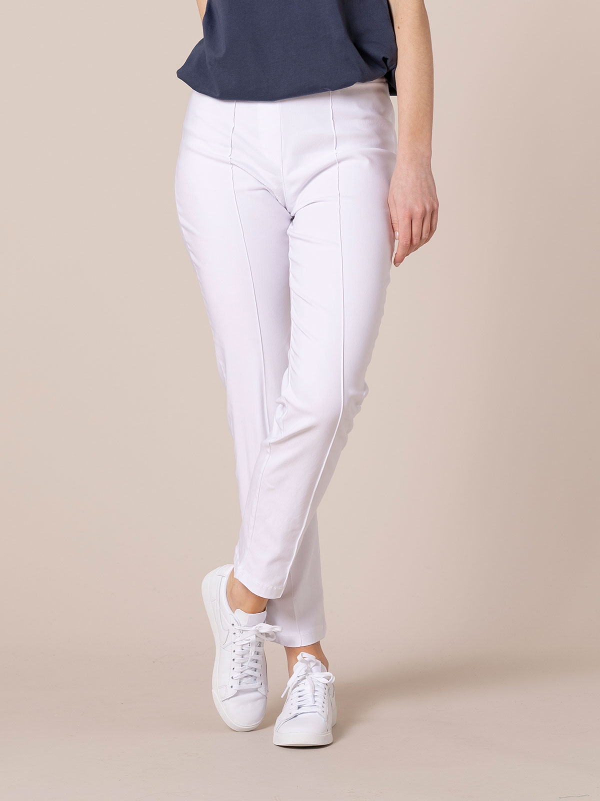 Woman Stretch comfort trousers White