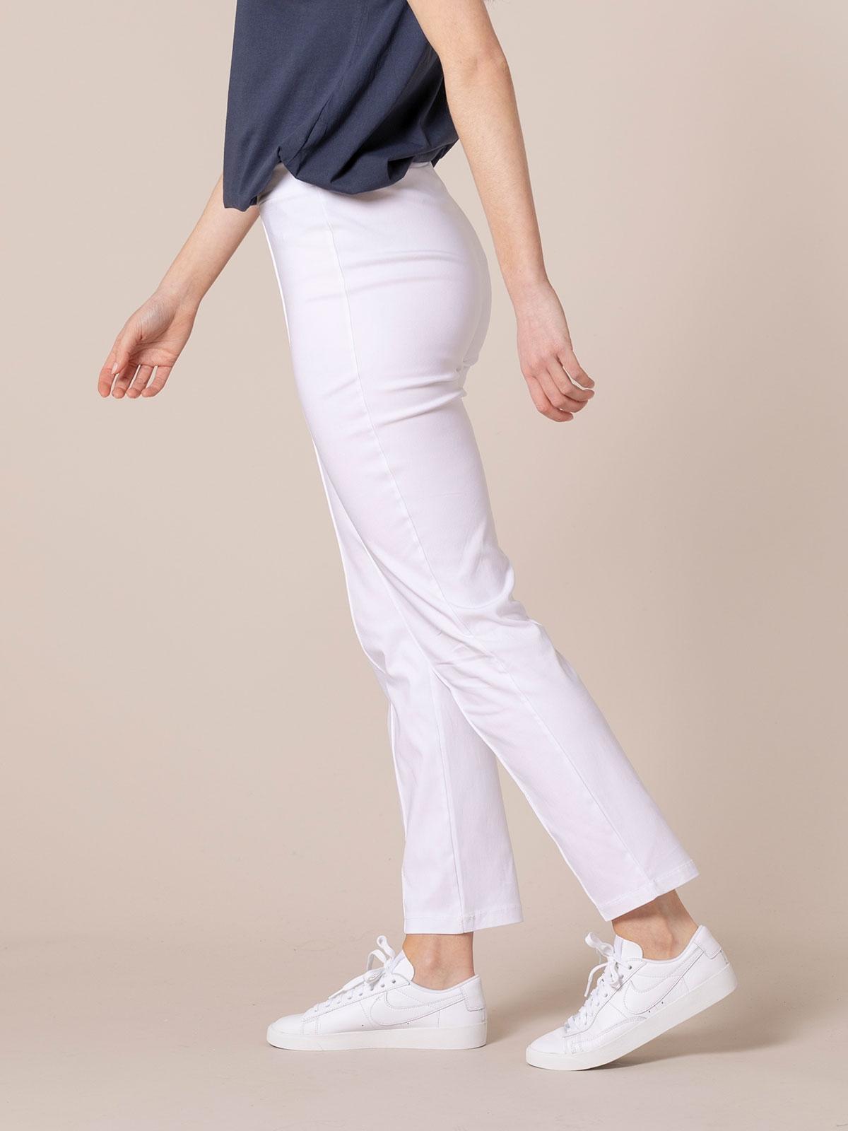 Pantalón mujer confort elástico Blanco
