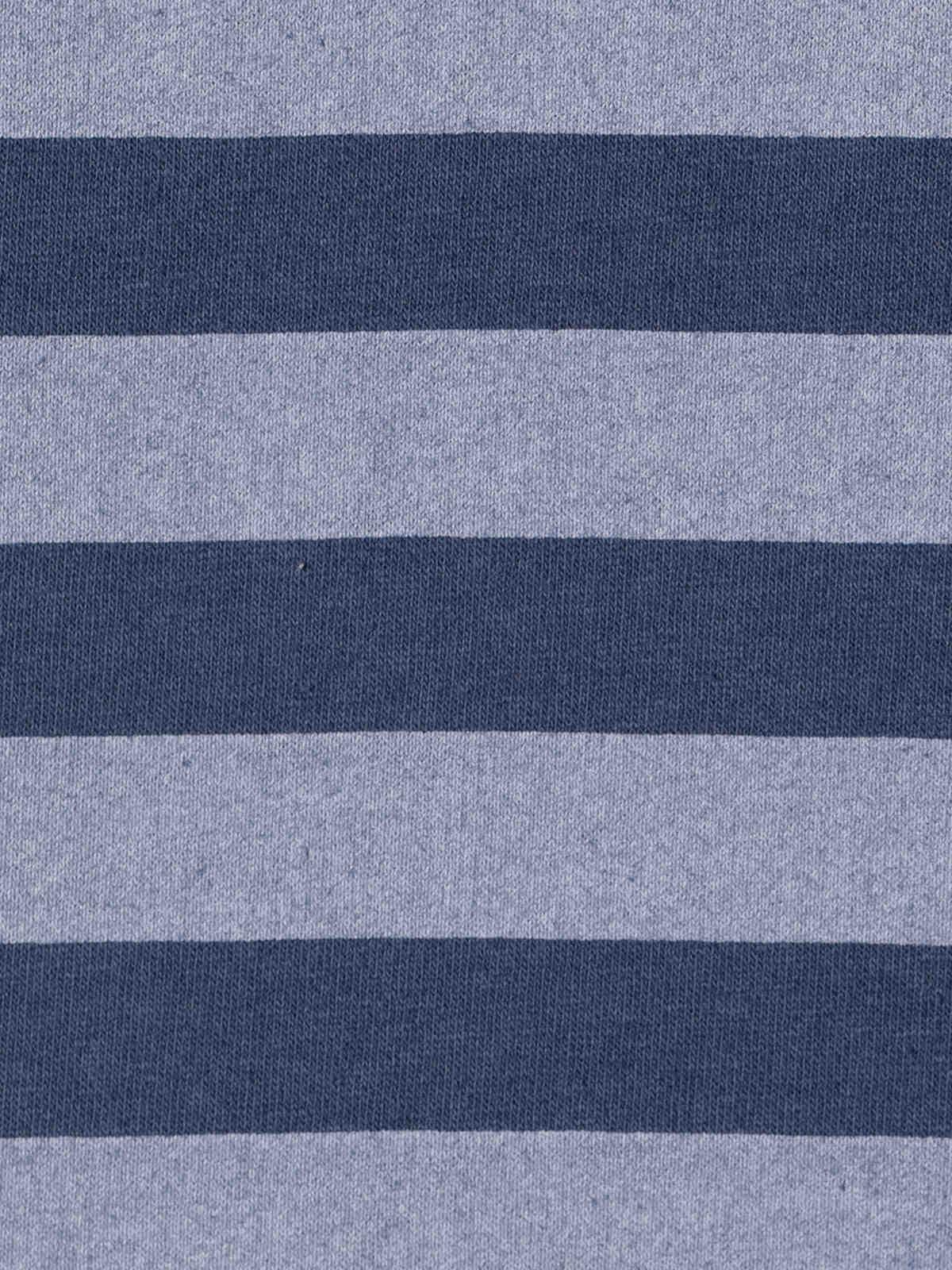 Sudadera mujer rayas detalle en bajo Azul Marino