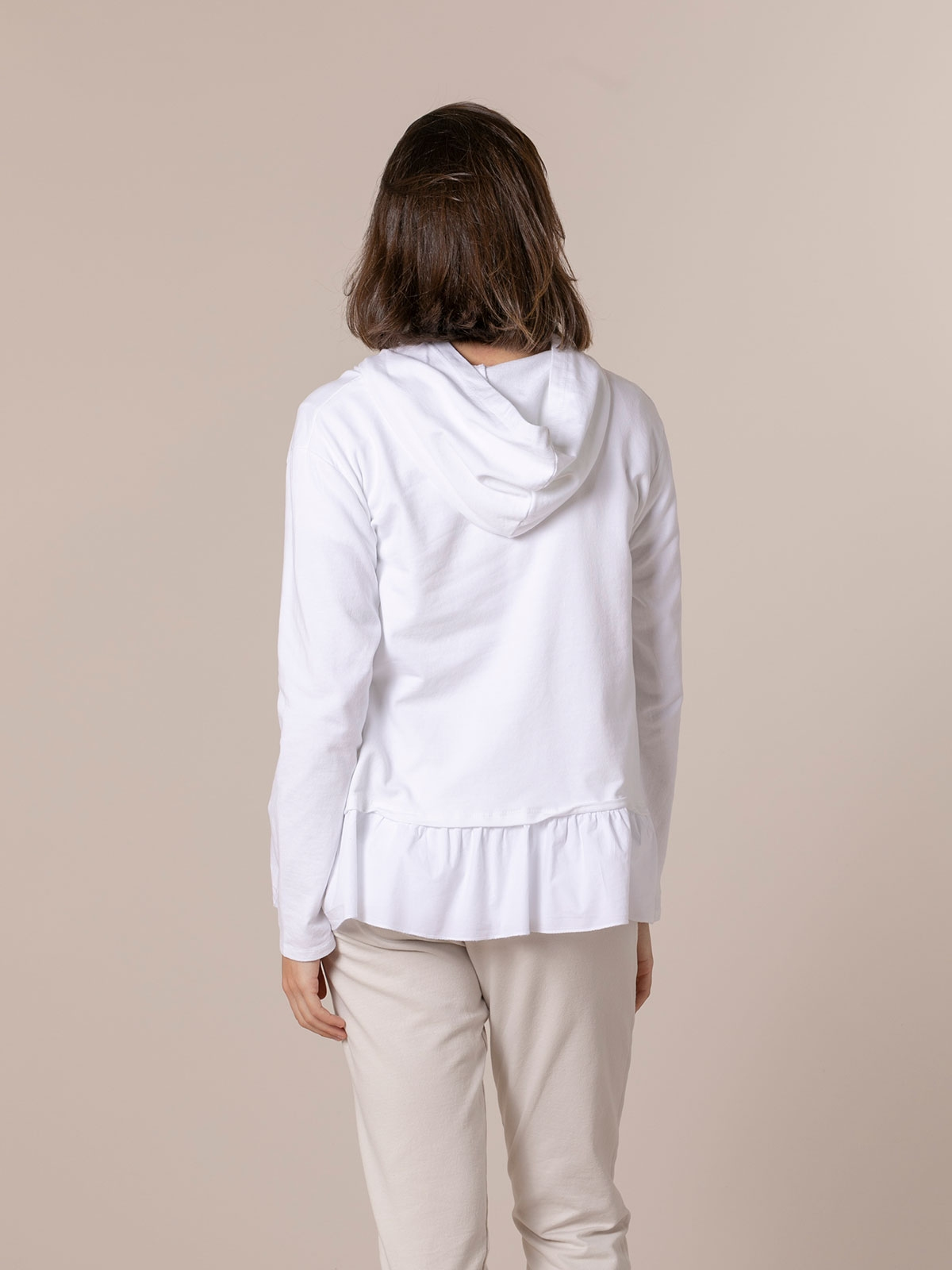 Woman pullover hoodie White