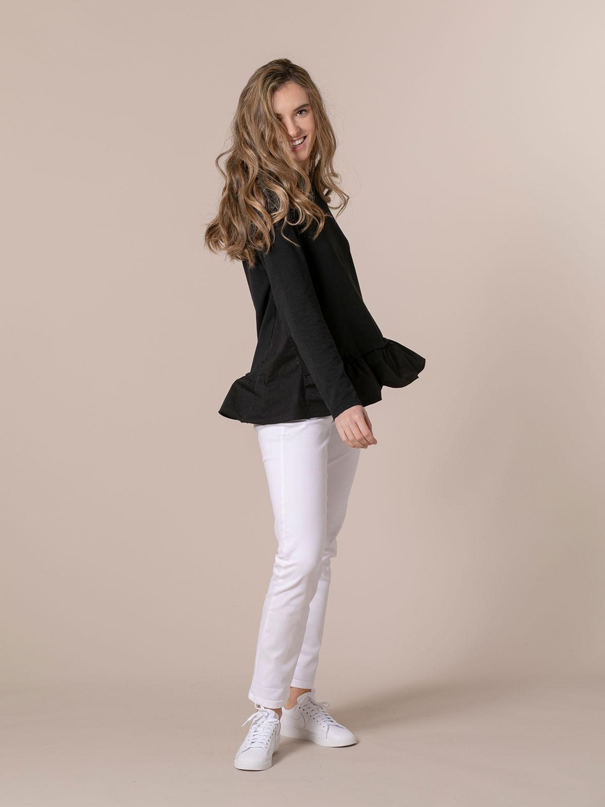 Sudadera mujer lisa con capucha Negro