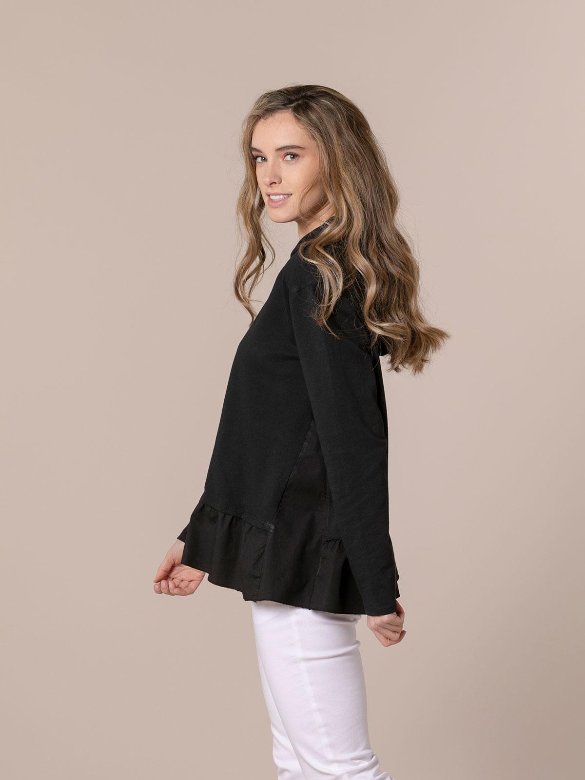 Woman pullover hoodie Black