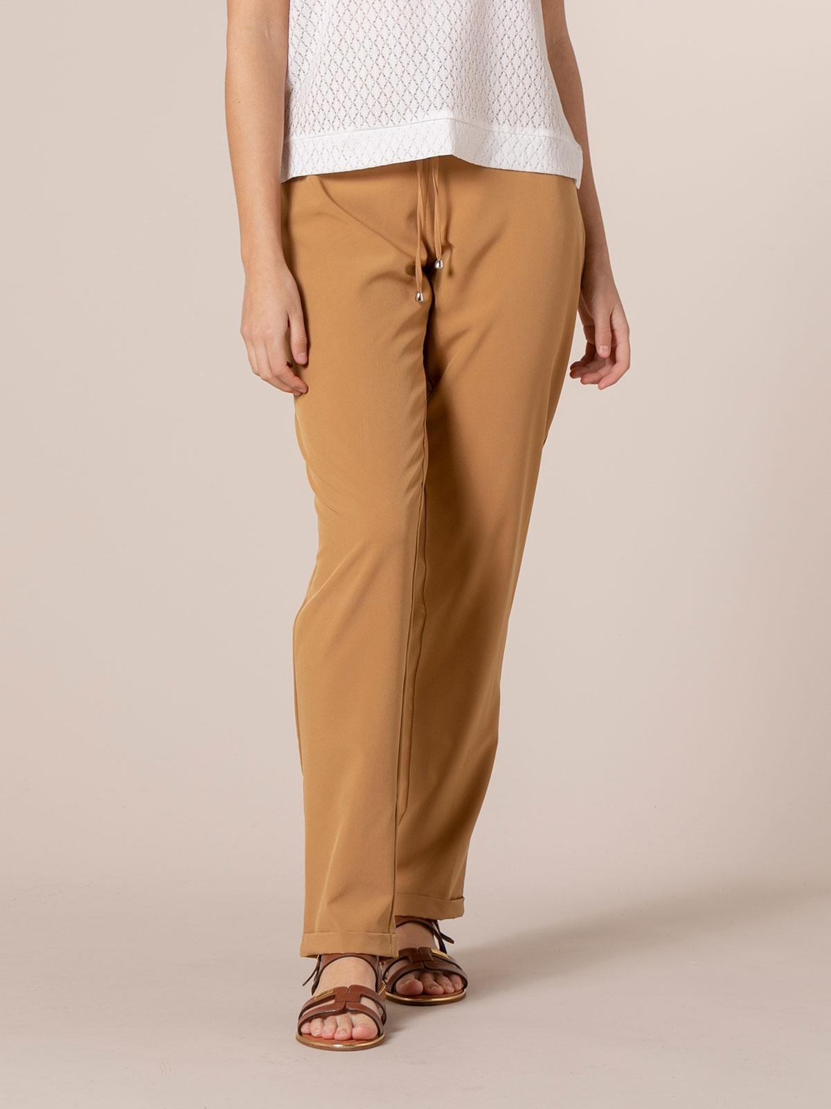 Woman Plain comfort trousers Beige