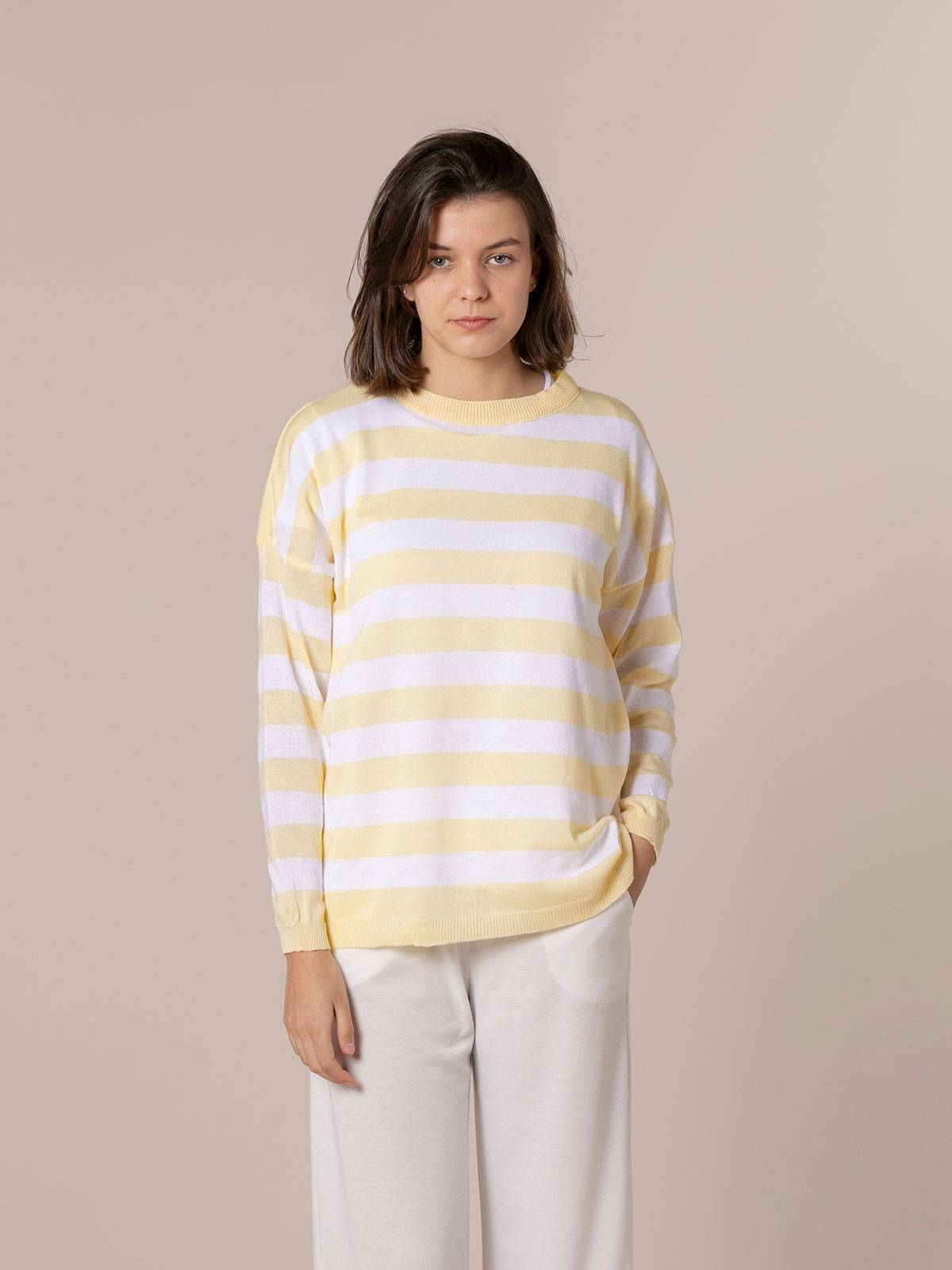 Jersey mujer rayas Amarillo