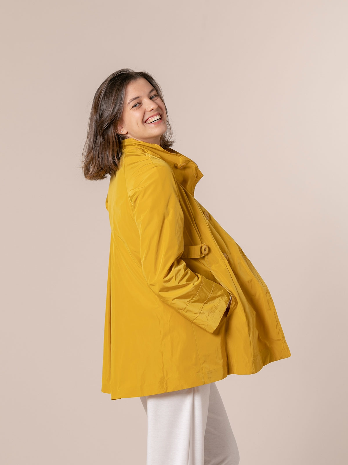 Parka mujer impermeable especial Amarillo