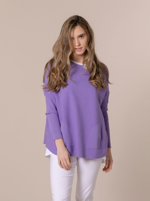Woman Soft knit sweater Lila