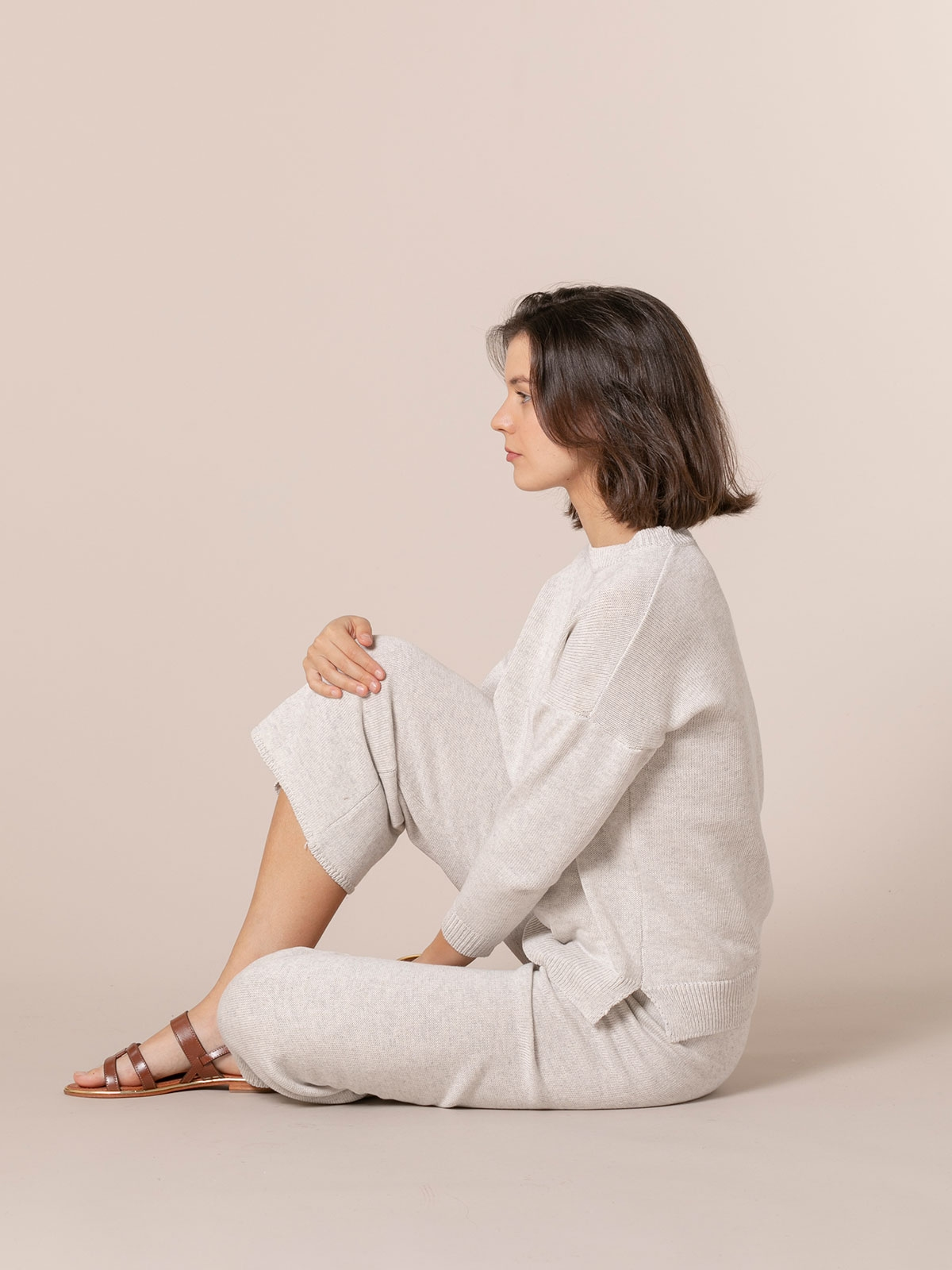 Jersey mujer punto de algodón Gris