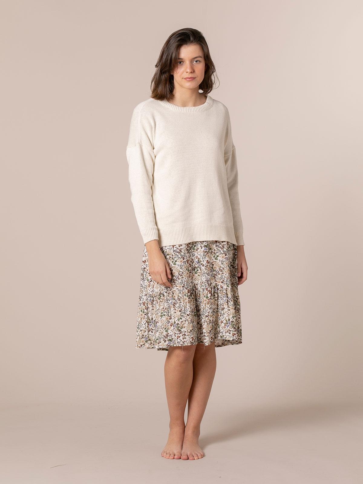Jersey mujer punto de algodón Beige
