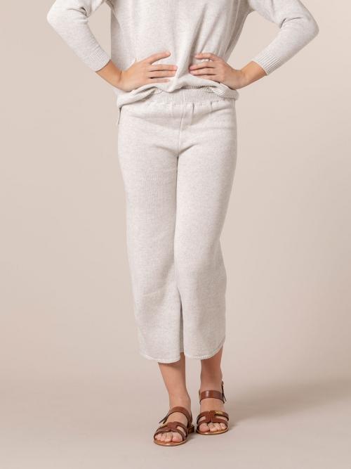 Woman Cotton jersey trousers Grey