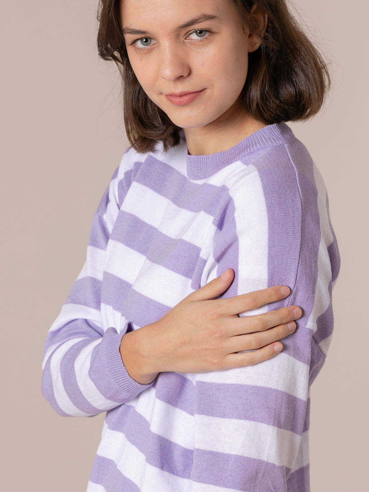 Woman Striped sweater Lila