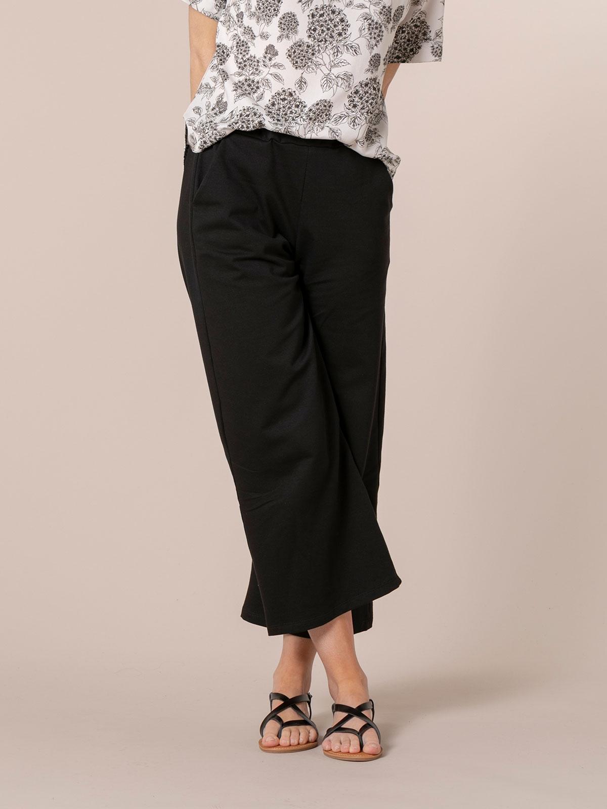 Woman Cotton culotte trousers Black