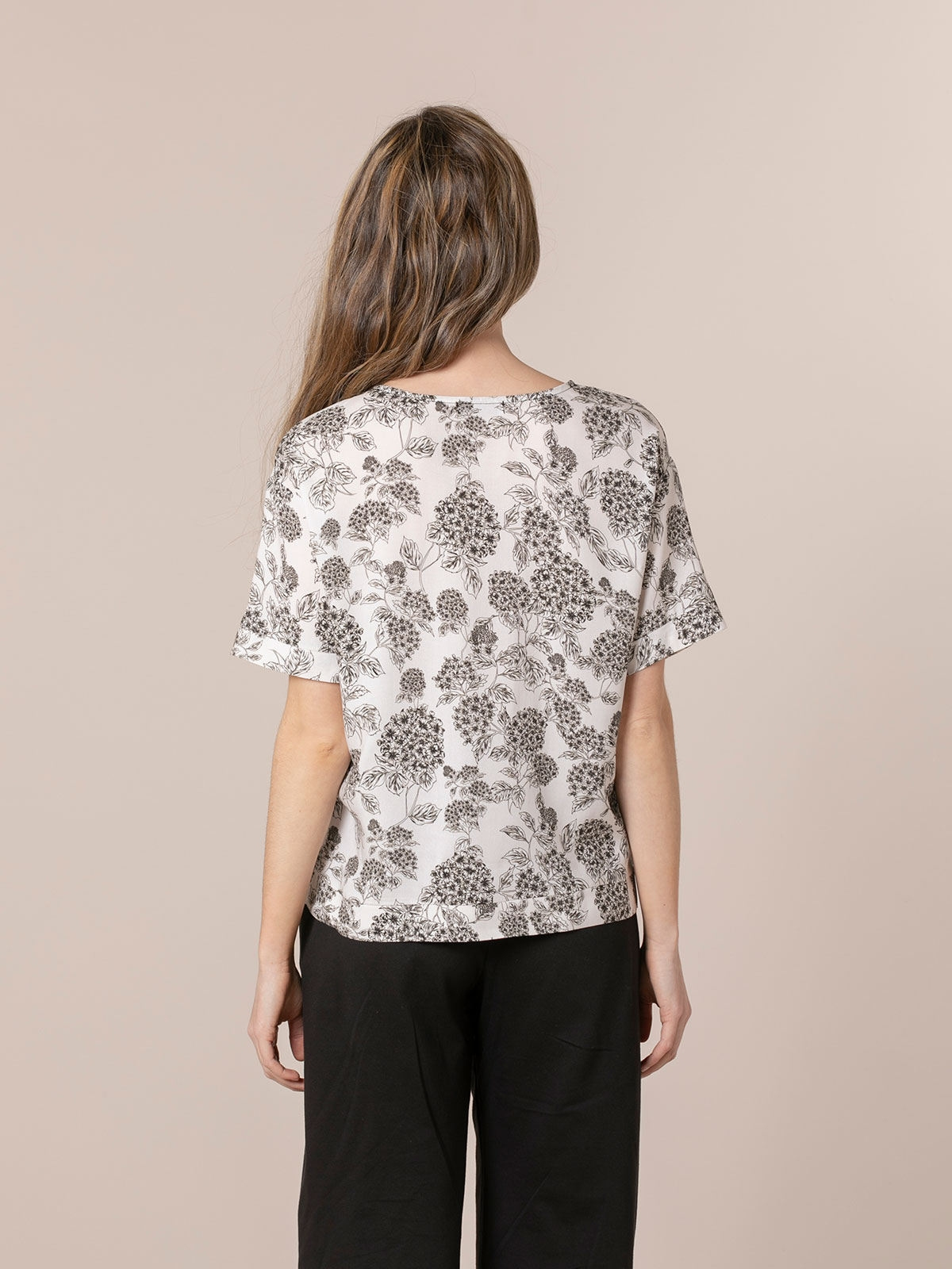 Woman Print blouse White