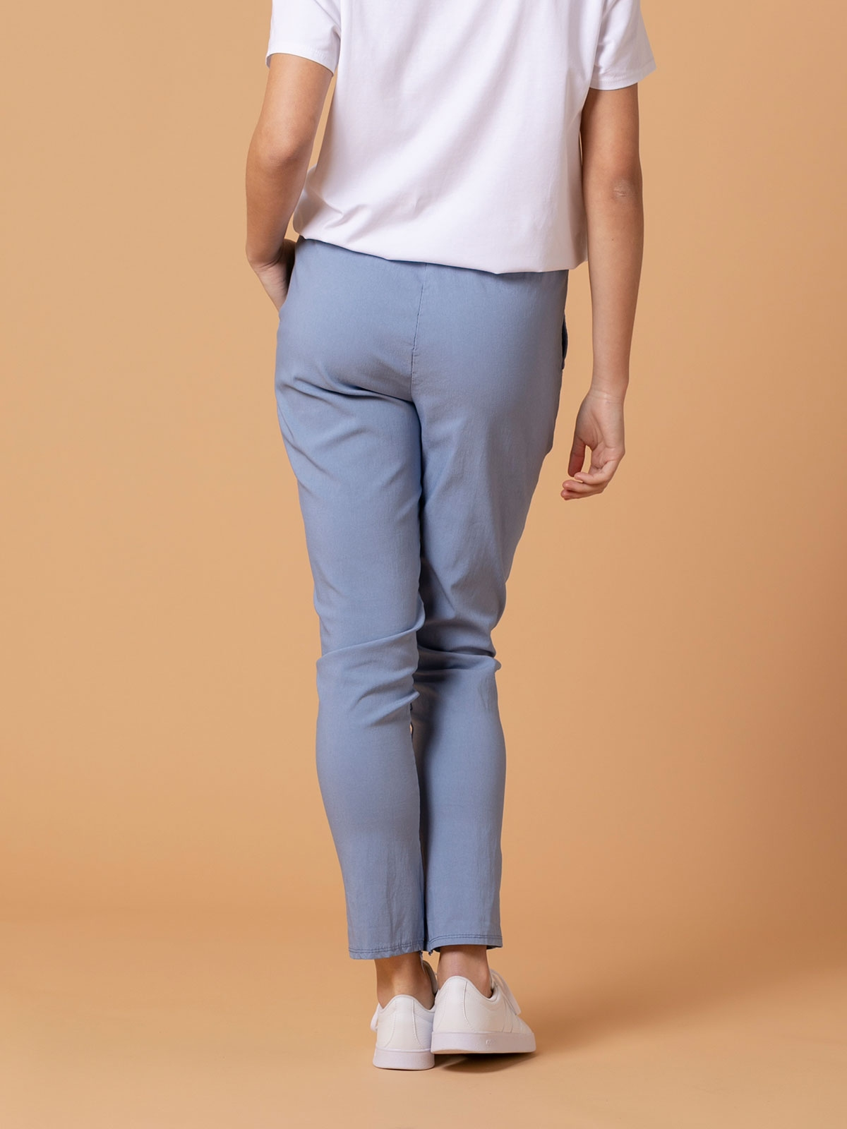 Woman Stretch cotton sport trousers Blue