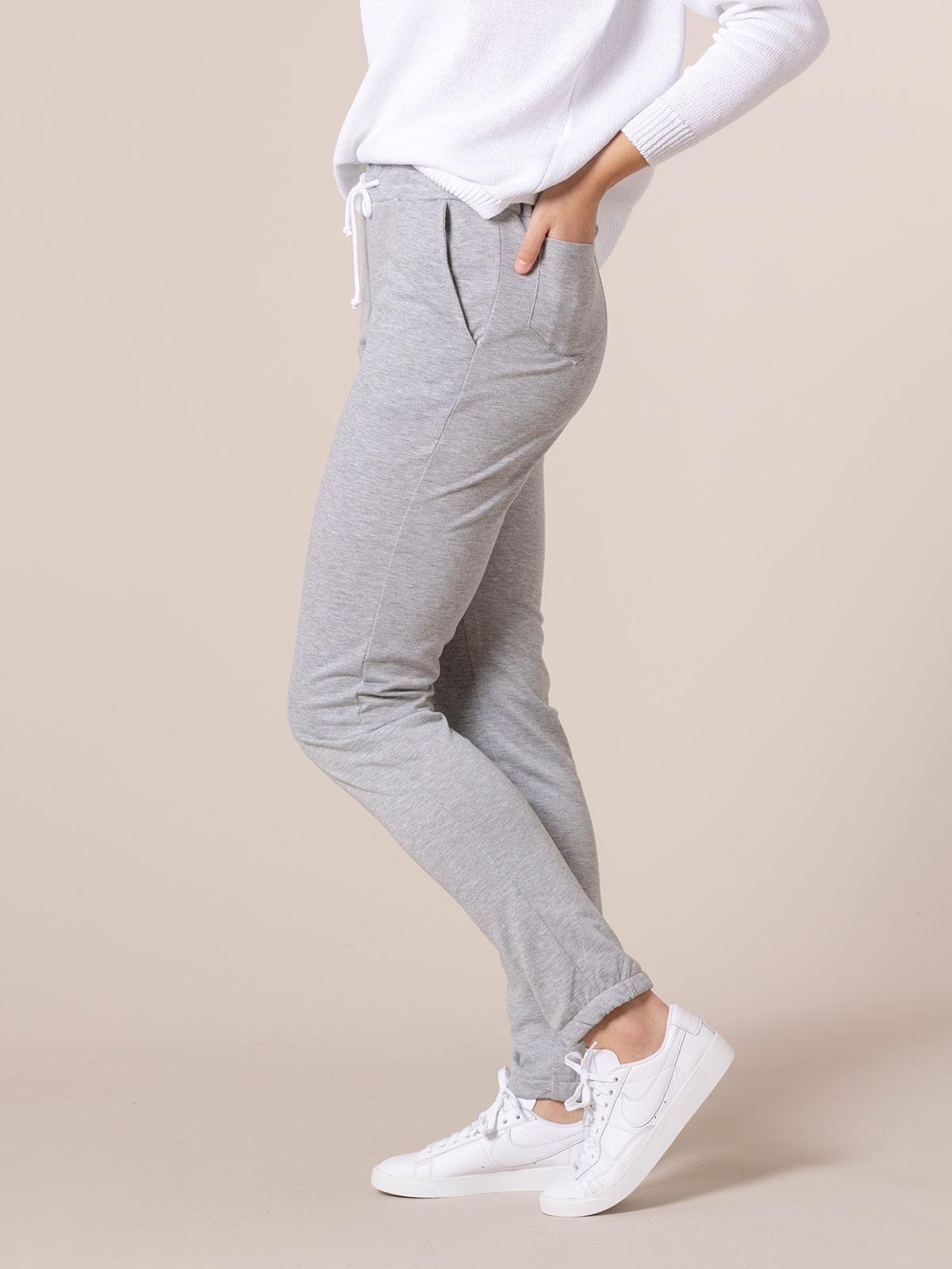 Woman Pantalón jogger detalle en bajo Grey