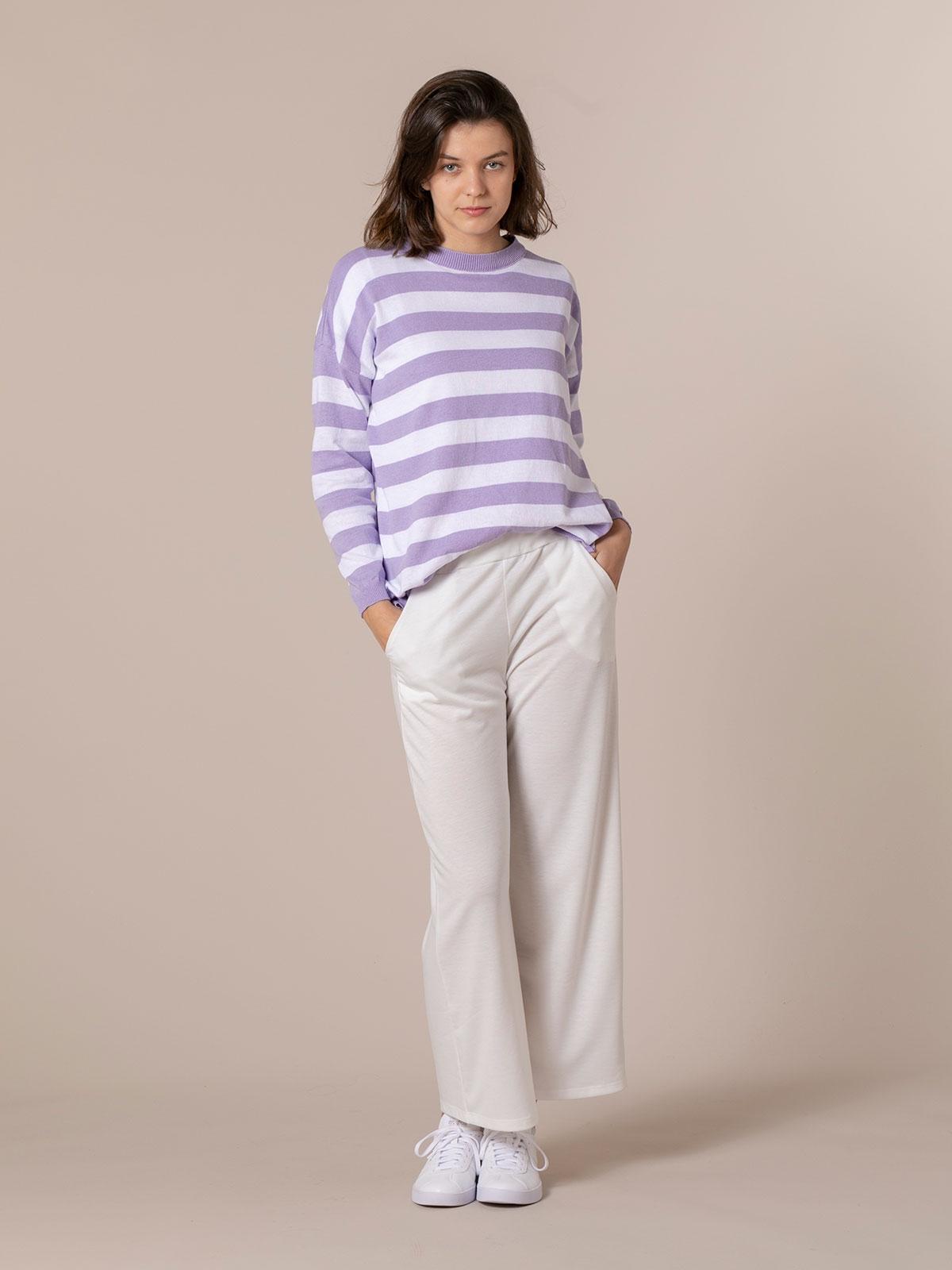 Pantalón mujer culotte algodón Blanco