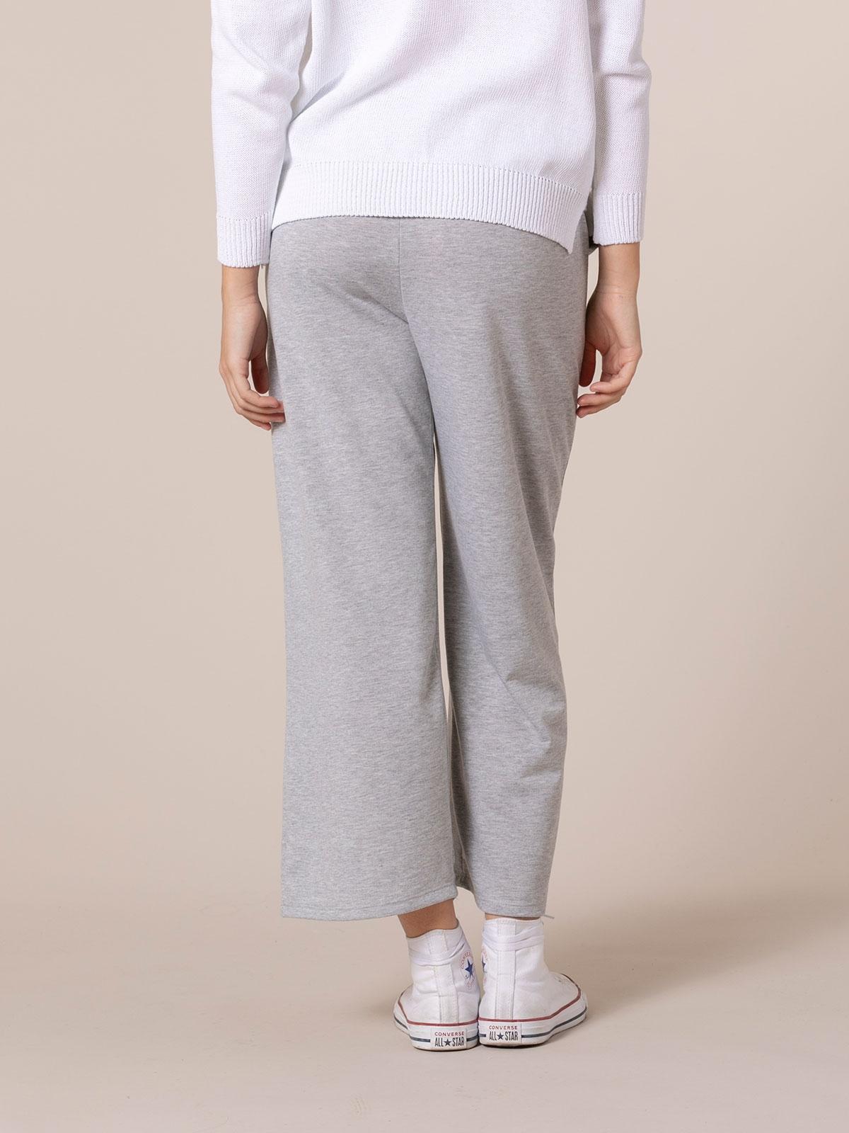 Pantalón mujer culotte algodón Gris