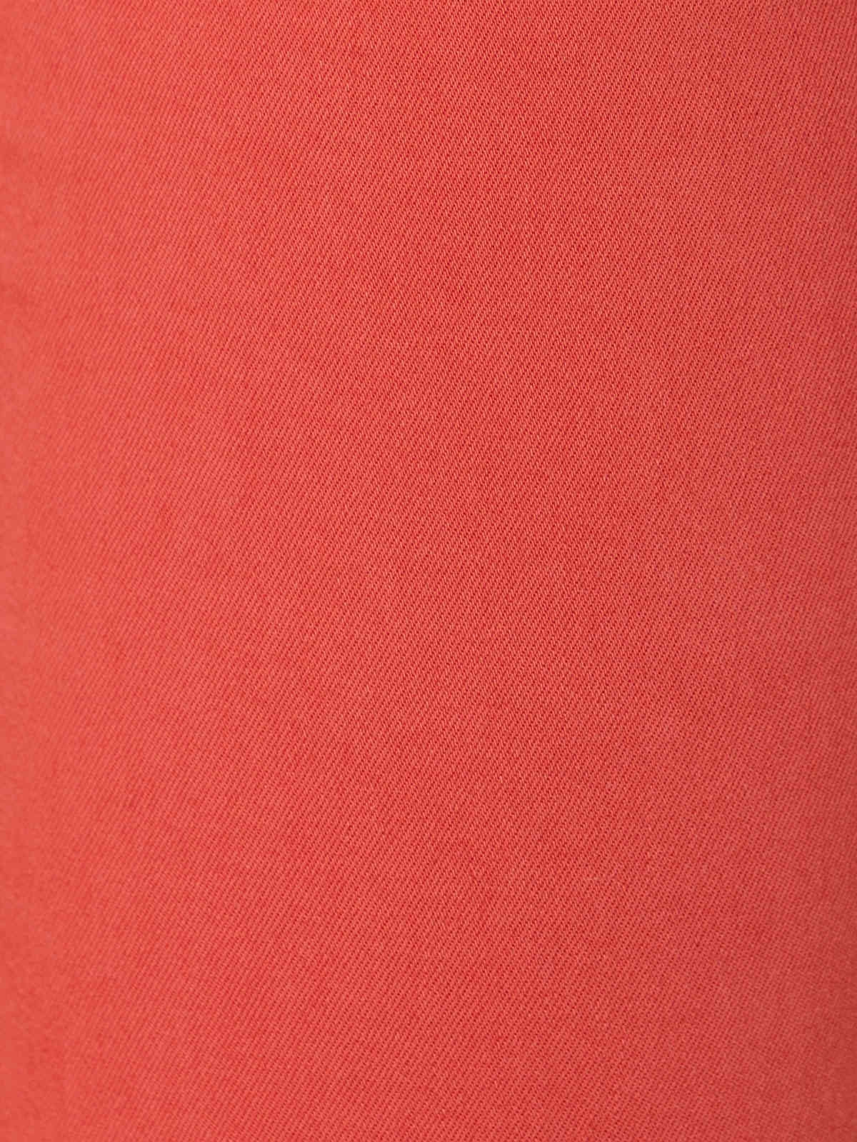 Woman Elastic cotton chino pants Tile