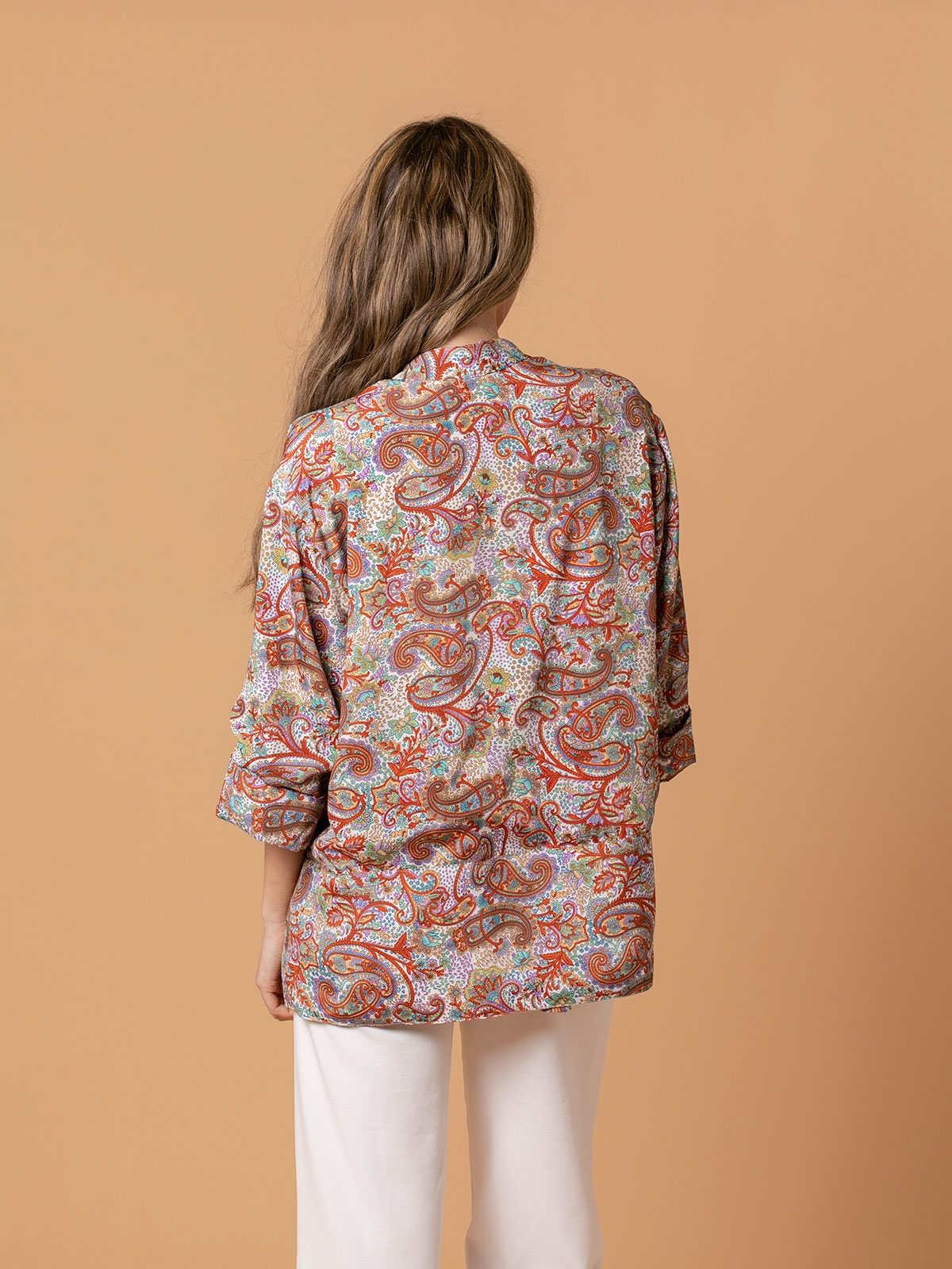 Woman Woman Flowy printed jacket Multicolor