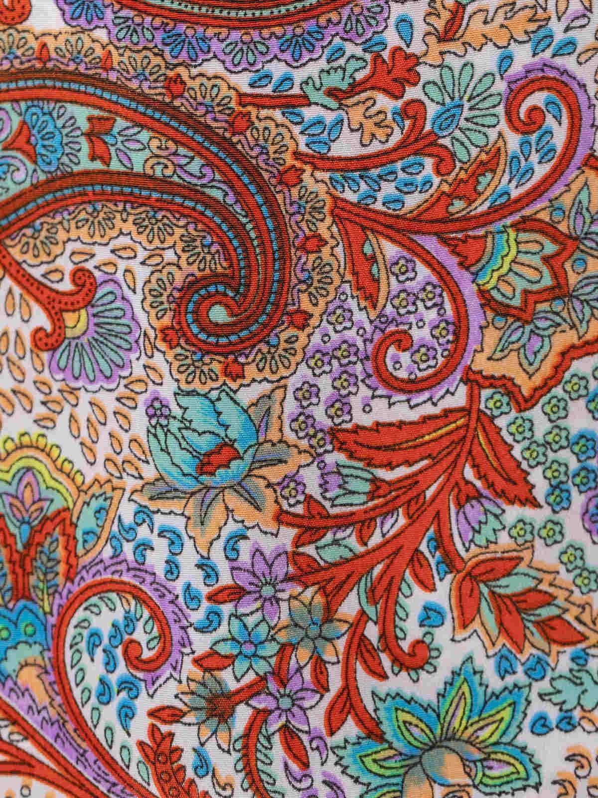 Chaqueta mujer estampada fluida Multicolor