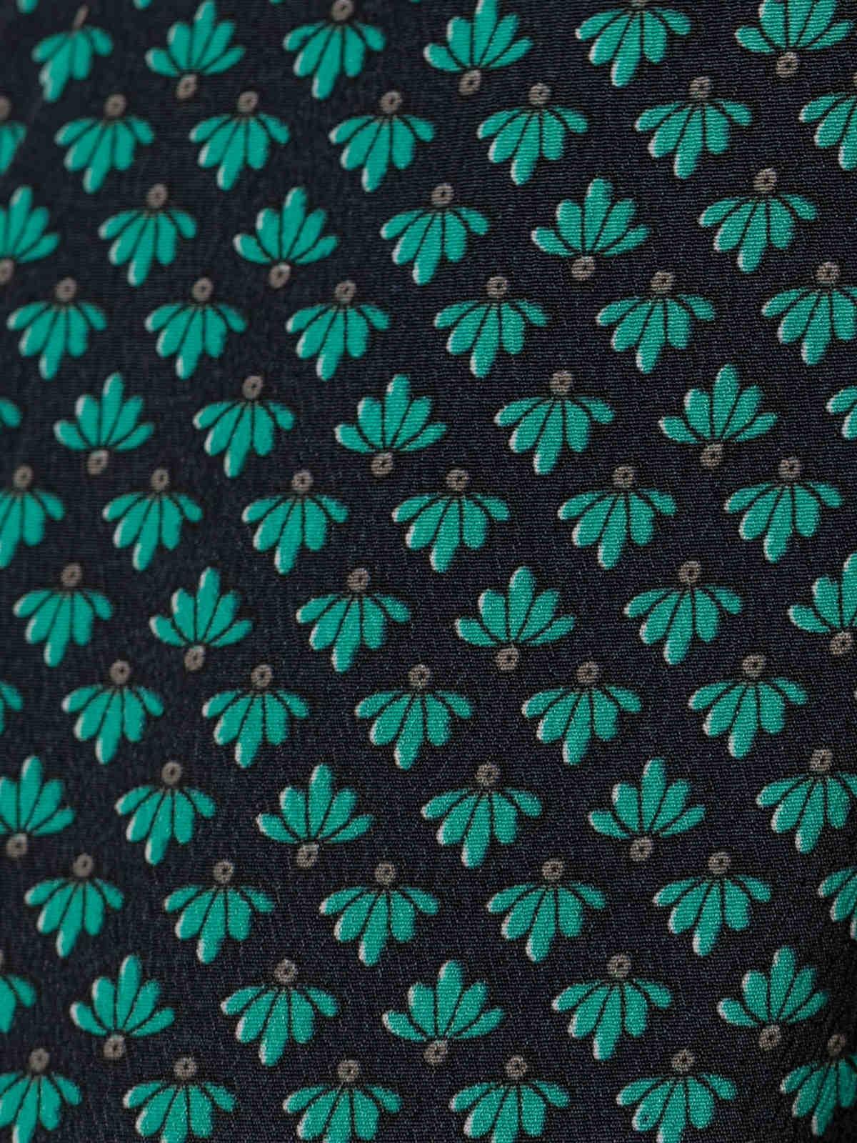 Woman Flowy printed skirt Grey/azul