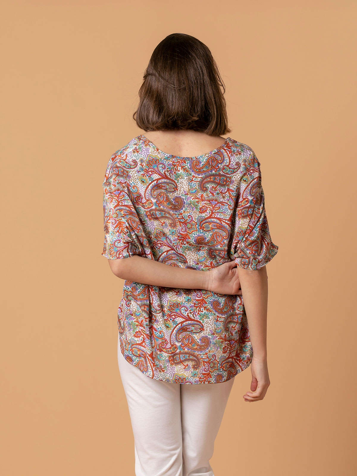 Woman Woman Flowy printed blouse Multicolor